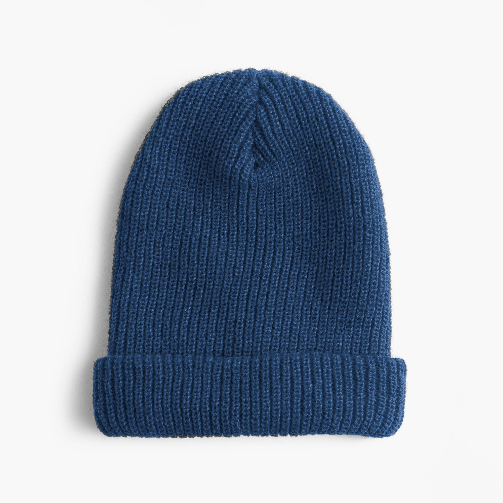 Ribbed beanie in solid