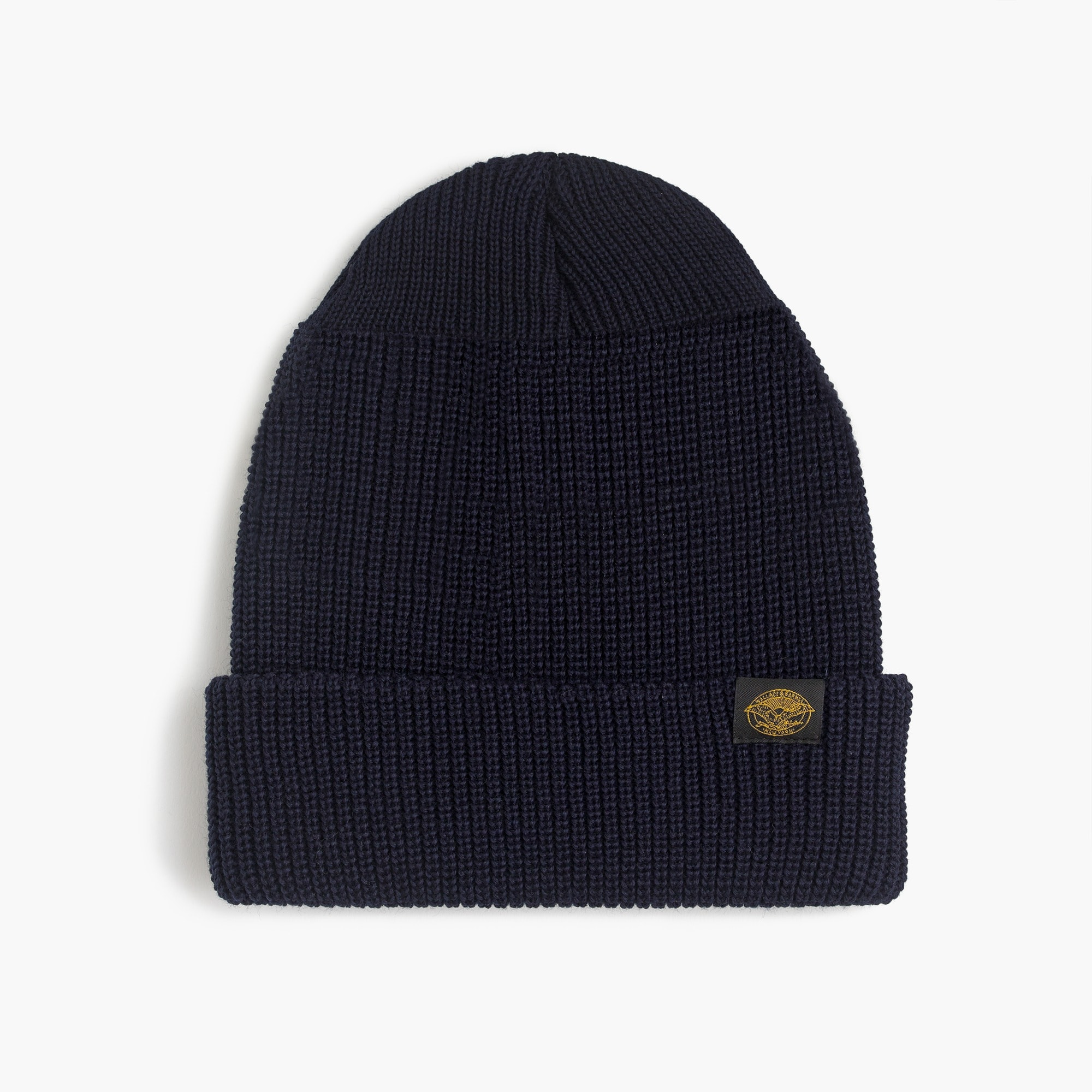 Wallace & Barnes wool beanie in navy