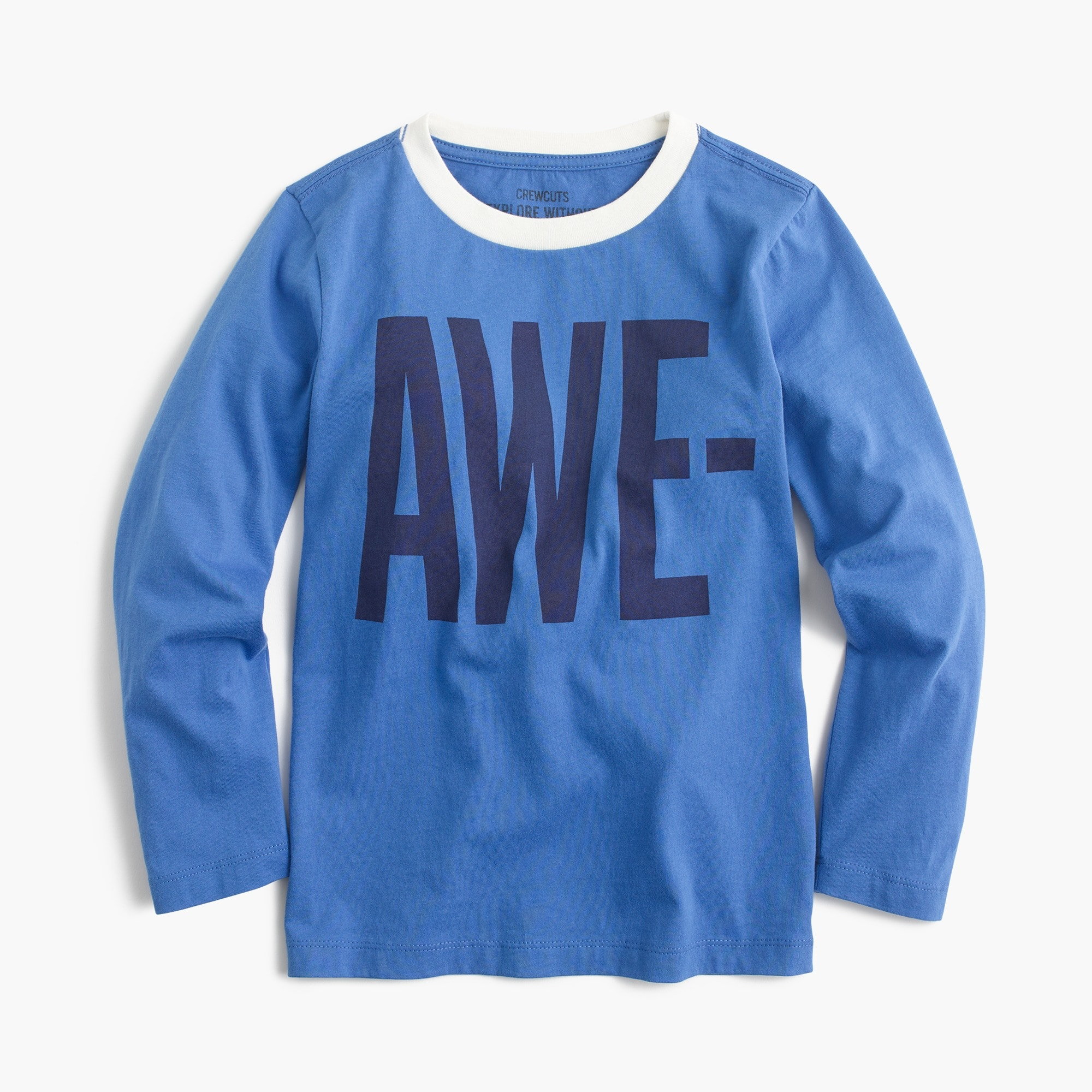 "Boys' long-sleeve ""awesome"" T-shirt boy t-shirts & polos c"