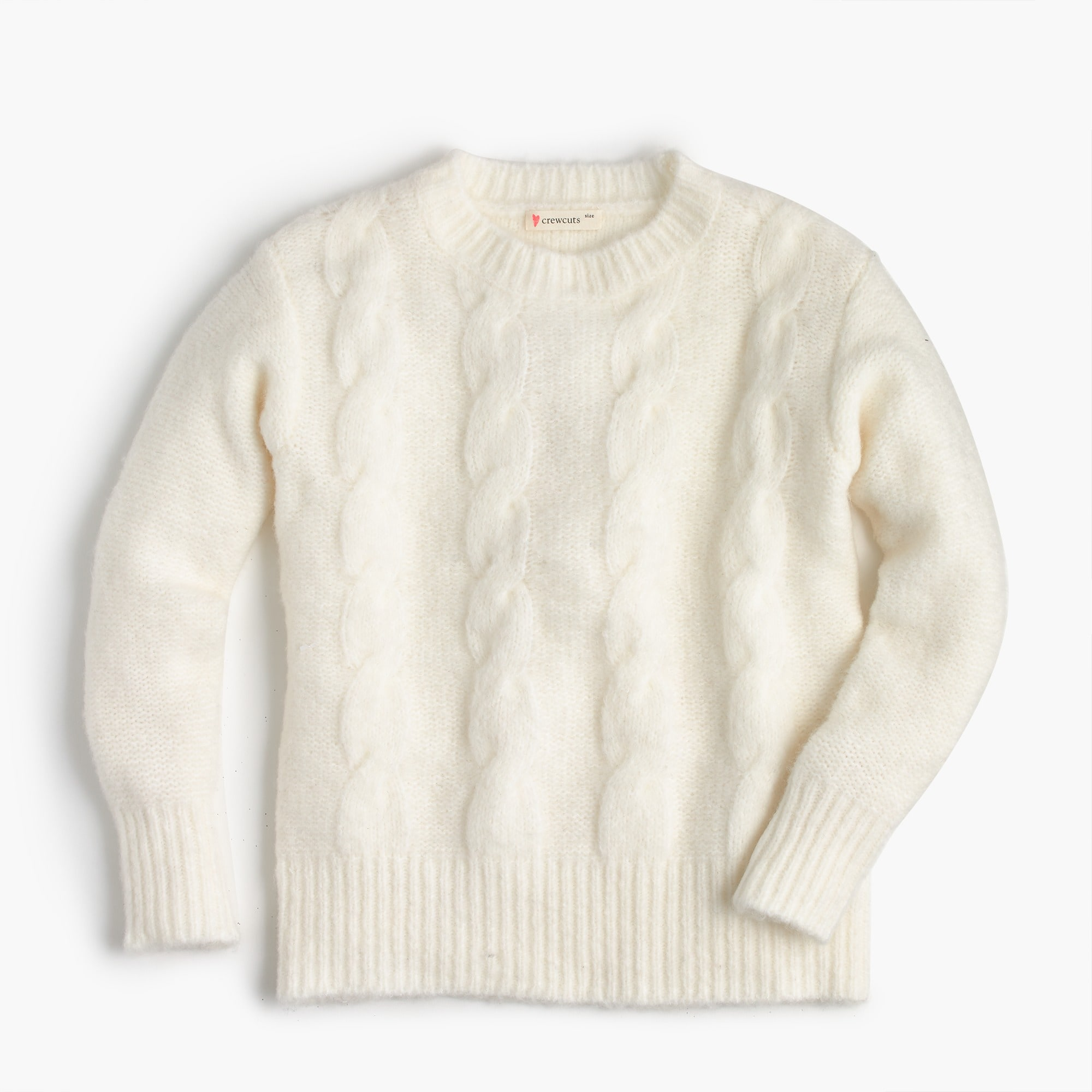 girls' cable-knit popover sweater - girls' sweaters