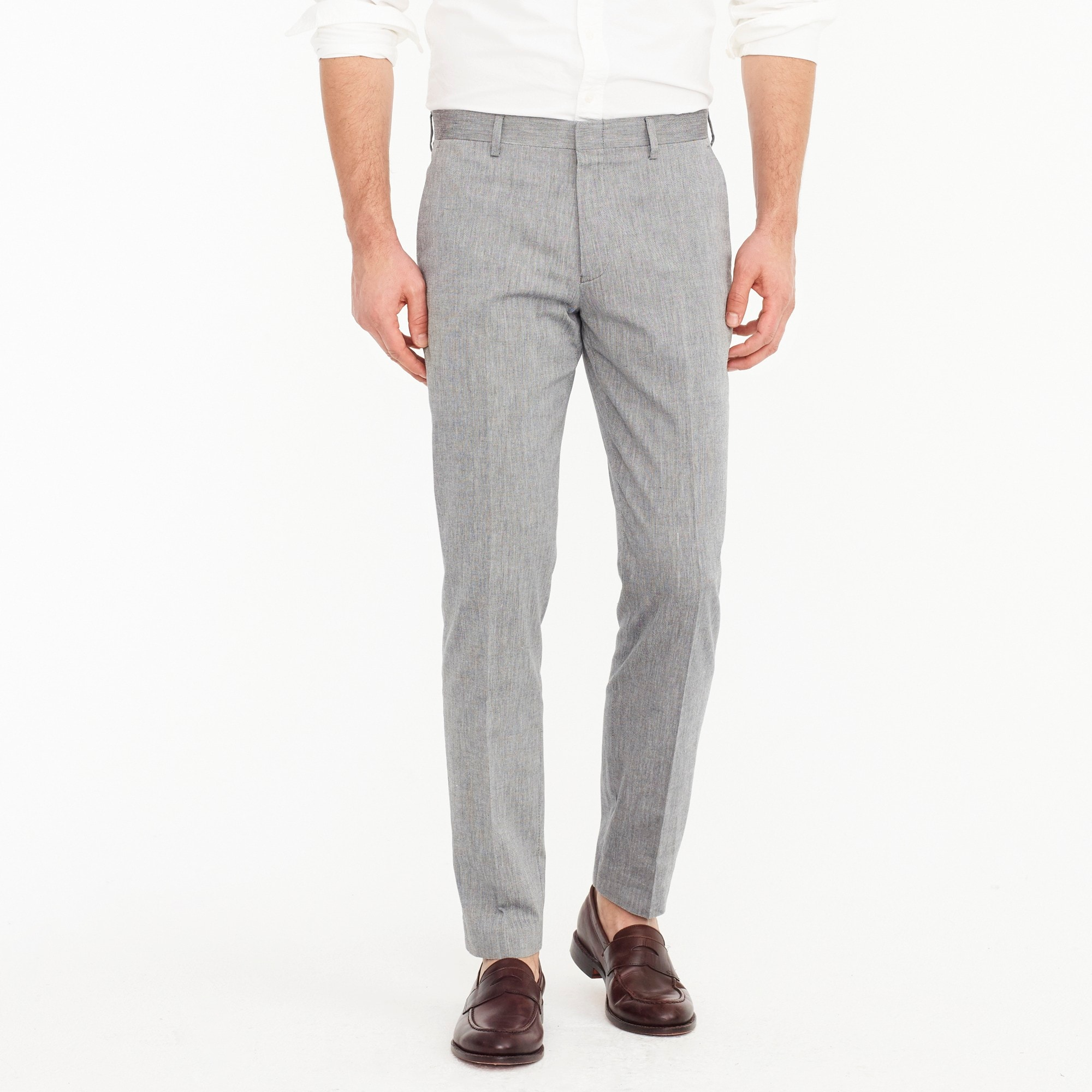 Ludlow Slim-fit unstructured suit pant in stretch cotton men stretch on demand c