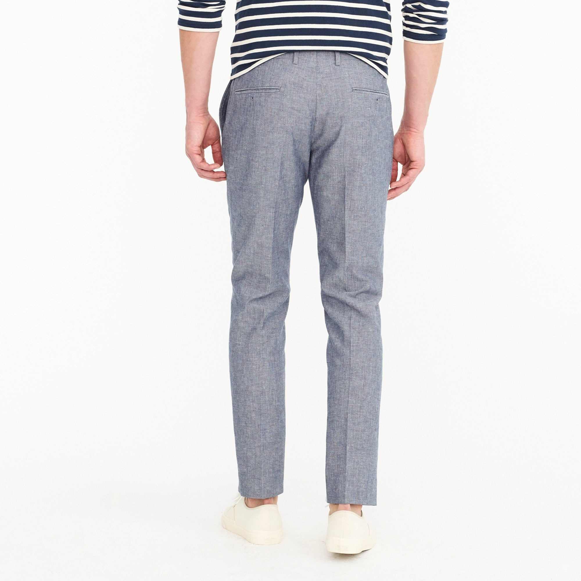 Image 3 for Ludlow Slim-fit unstructured suit pant in cotton-linen