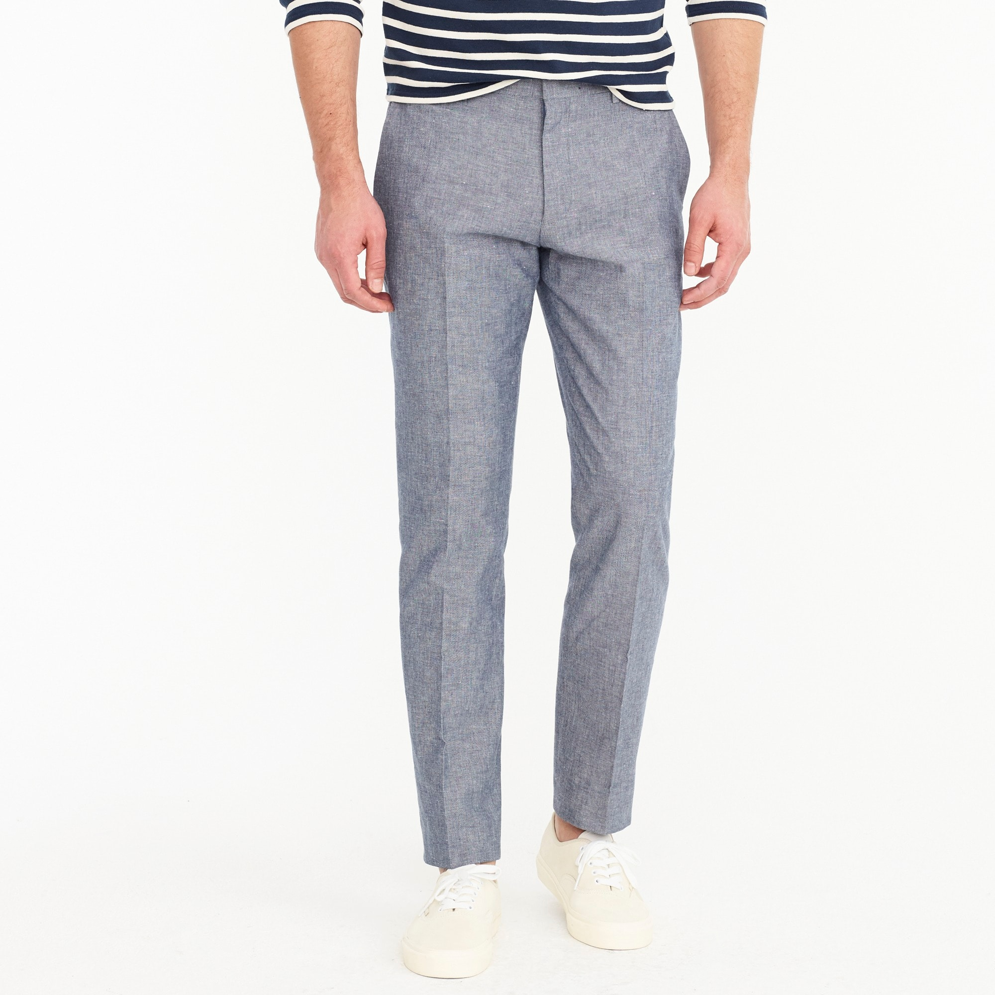 Ludlow unstructured suit pant in cotton-linen men pants c
