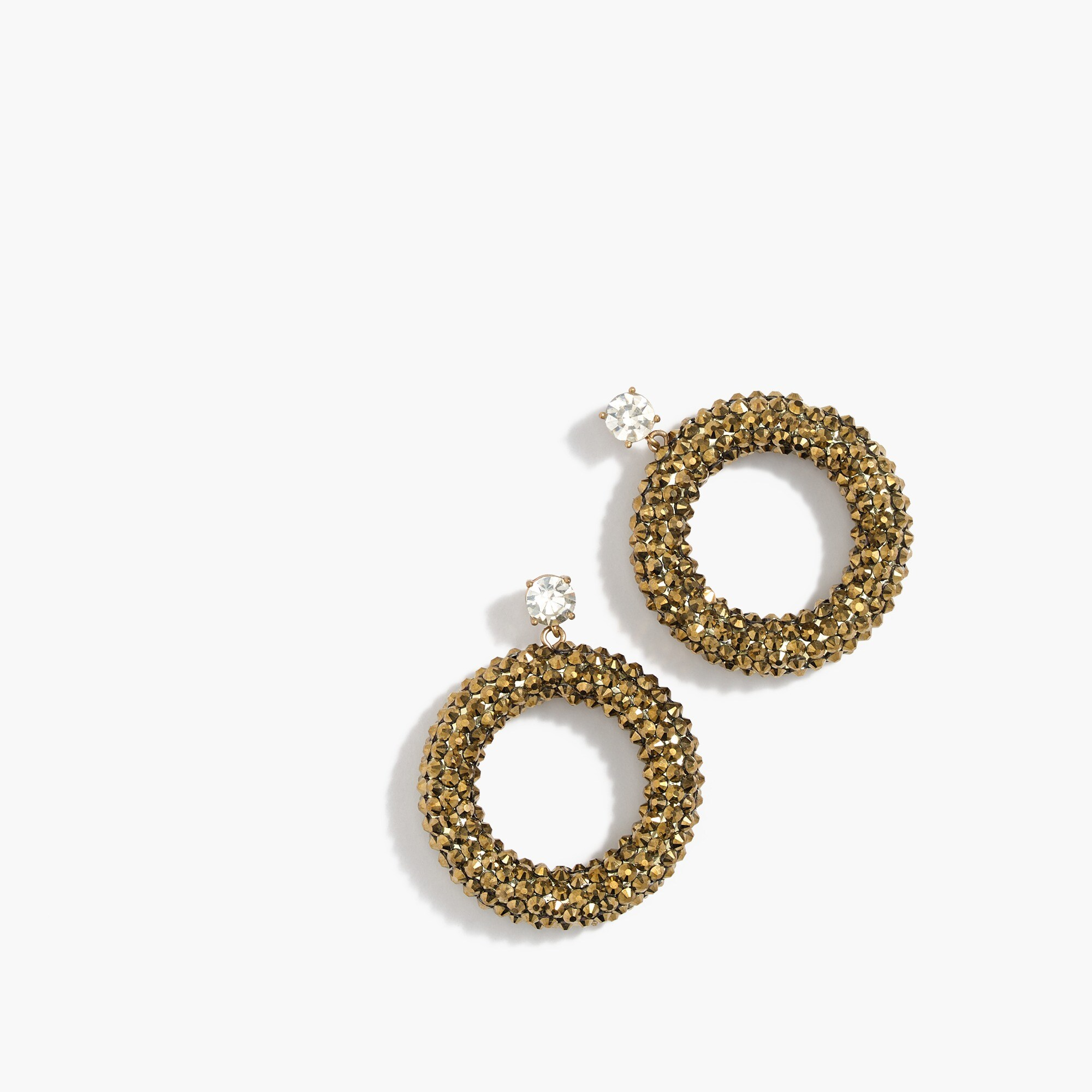 Image 1 for Sparkle drop hoop earrings