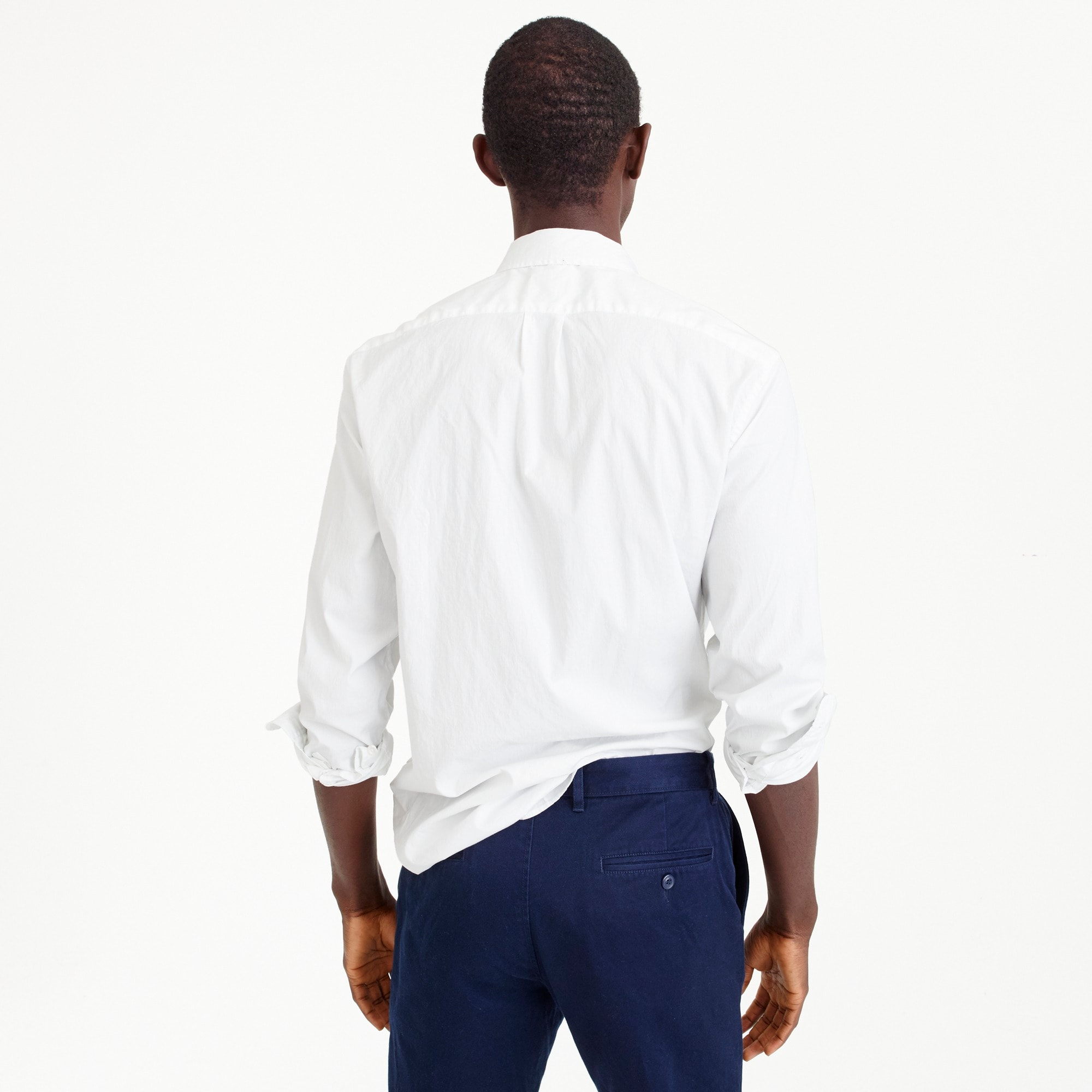 Image 3 for Slim stretch Secret Wash shirt in white poplin