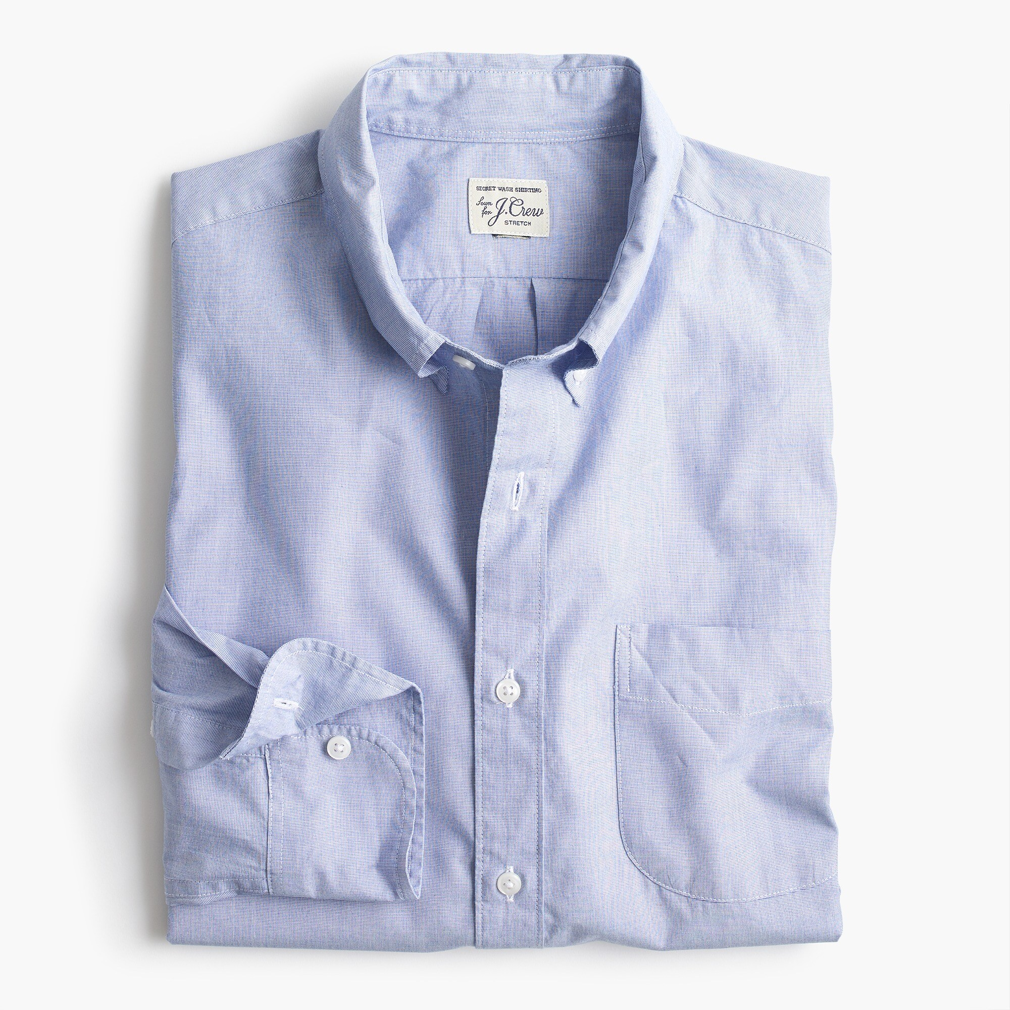 mens Untucked stretch Secret Wash shirt in end-on-end cotton poplin