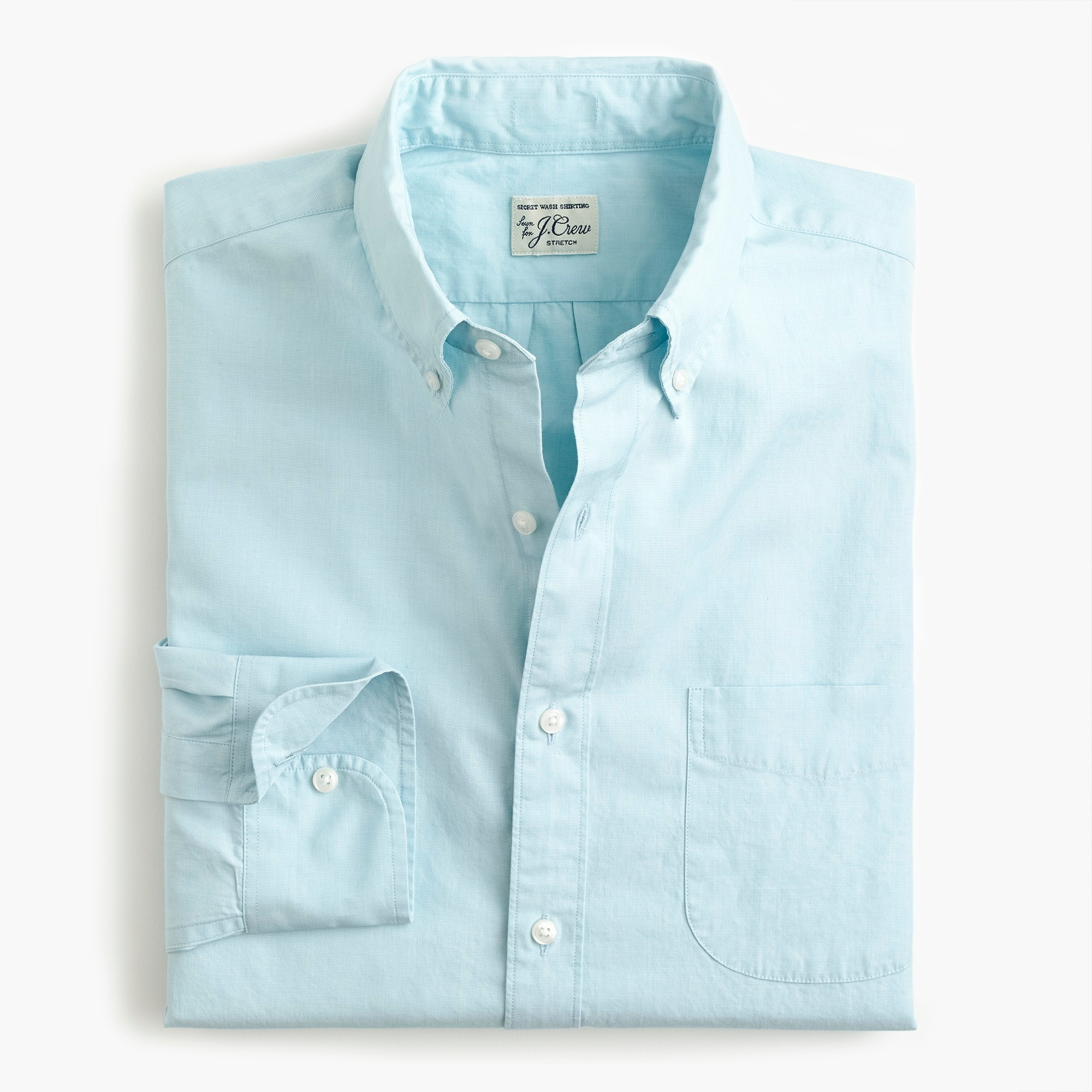 mens Stretch Secret Wash shirt in end-on-end cotton poplin