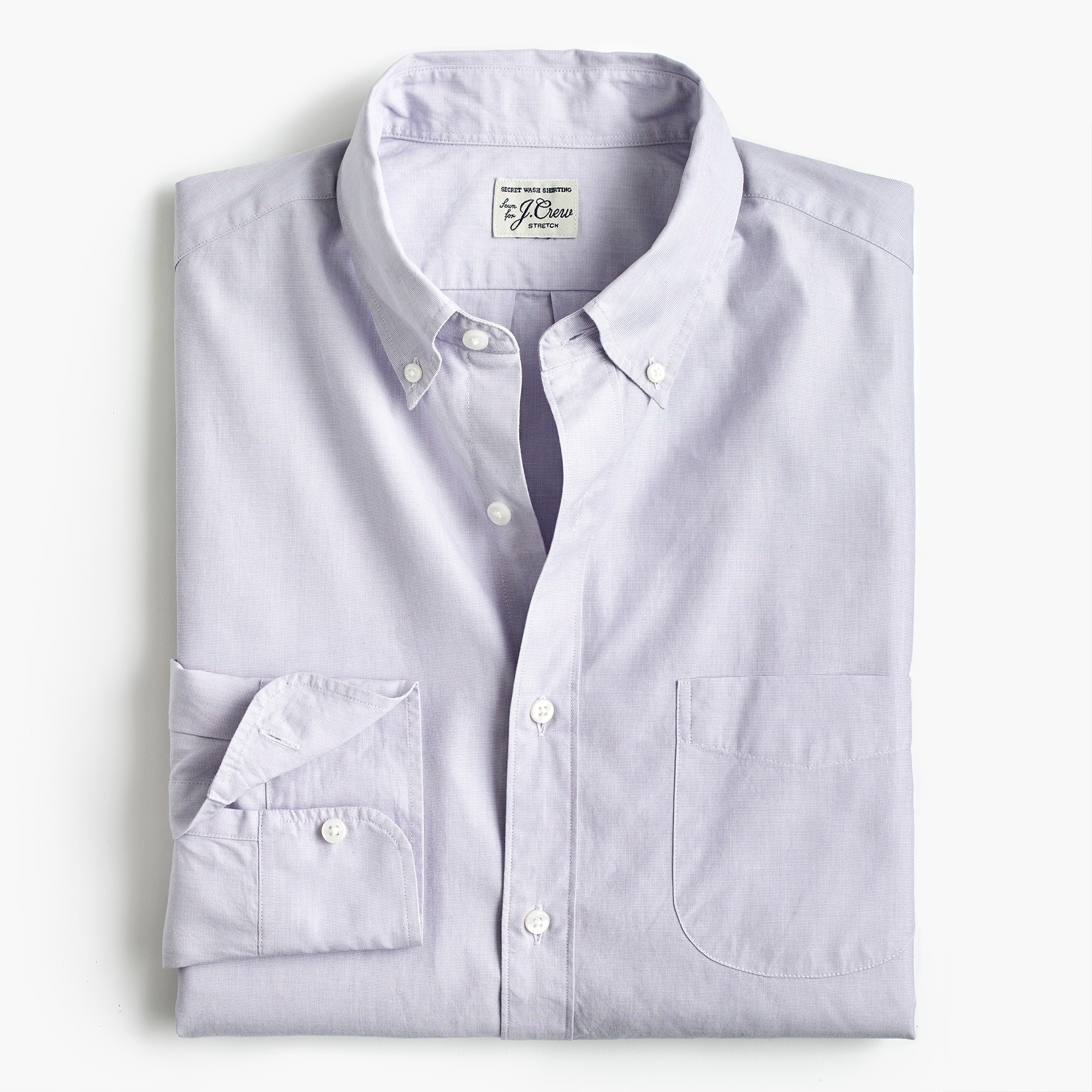 mens Tall stretch Secret Wash shirt in end-on-end cotton poplin