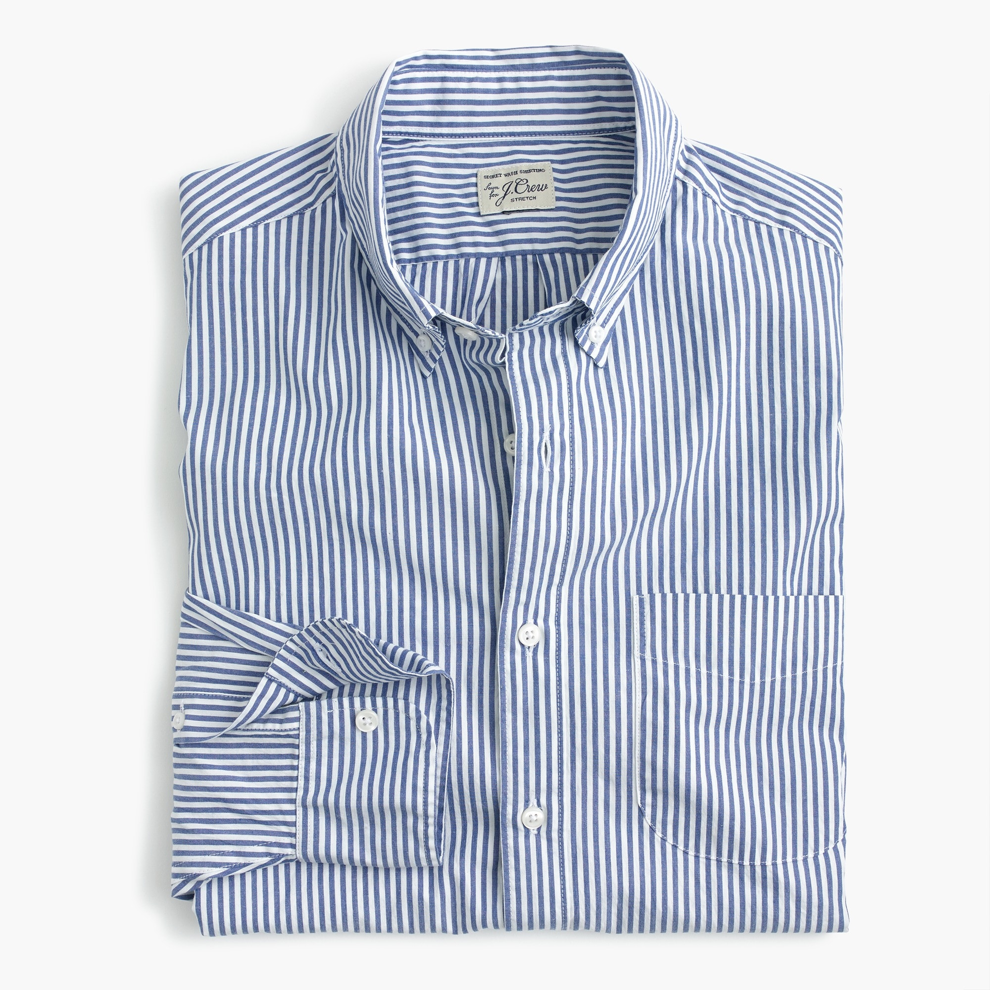 mens Stretch Secret Wash shirt in poplin