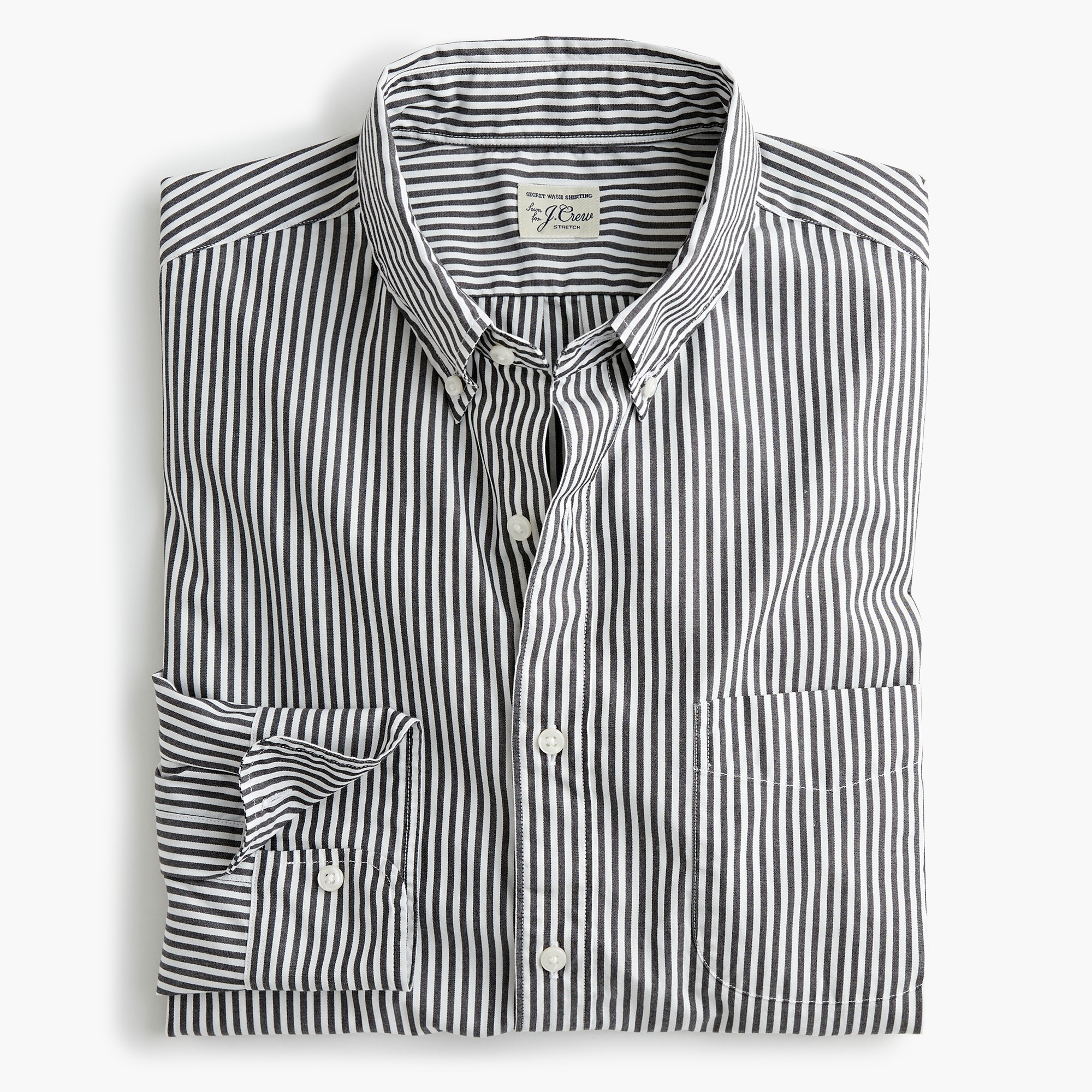 mens Untucked stretch Secret Wash shirt in poplin
