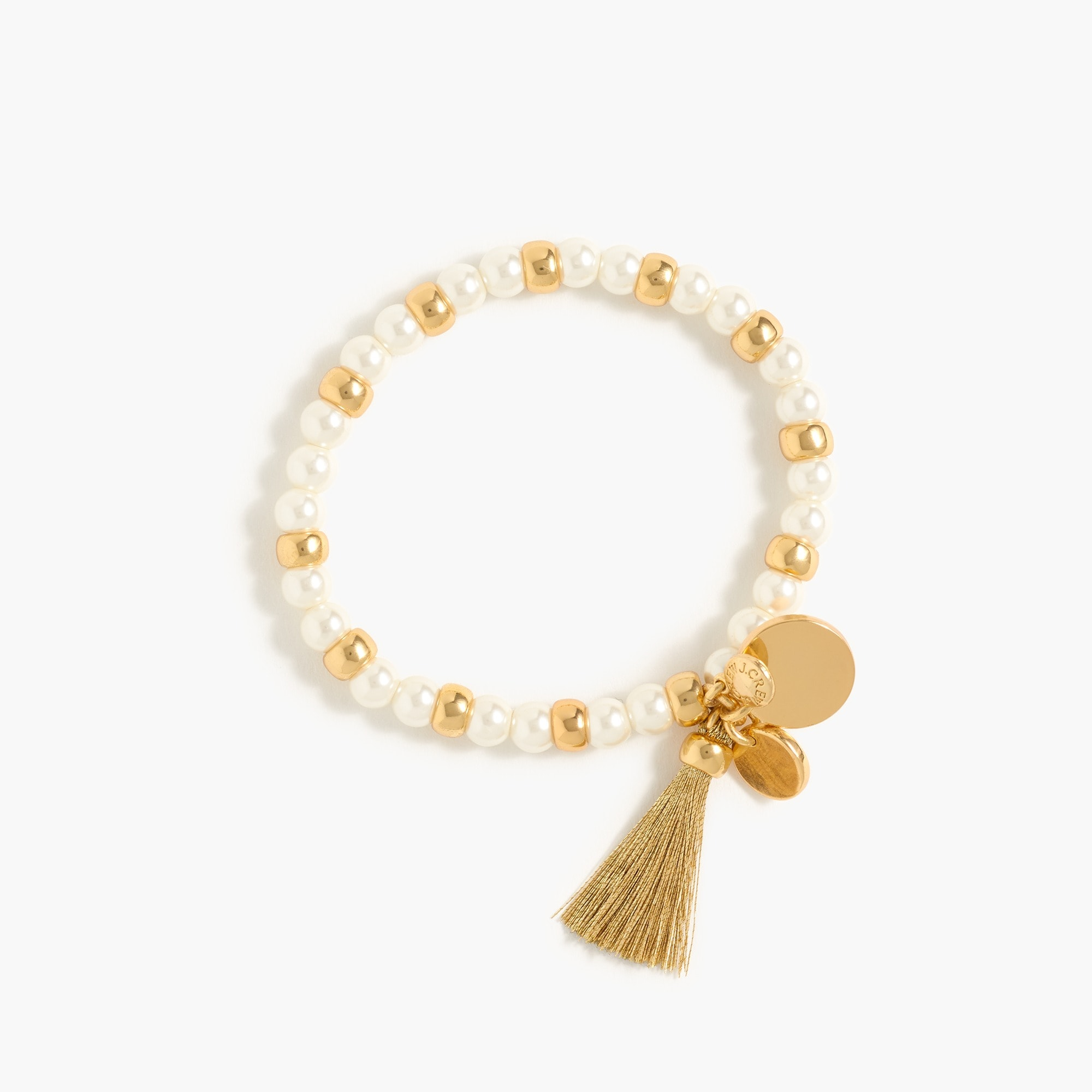 Bead and tassel stretch bracelet