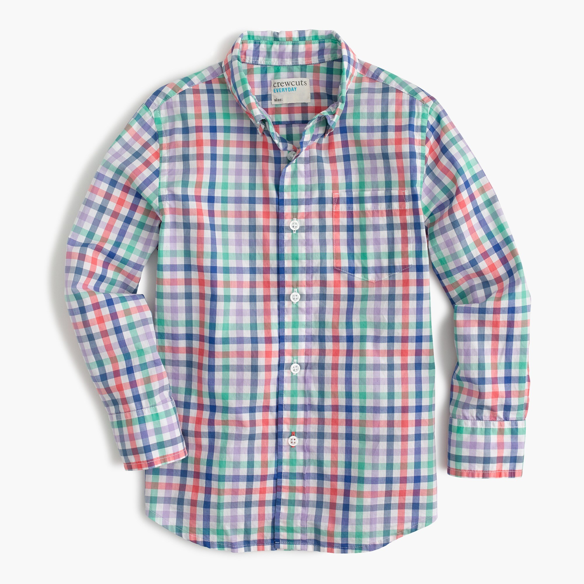 Image 2 for Kids' Secret Wash shirt in rainbow plaid