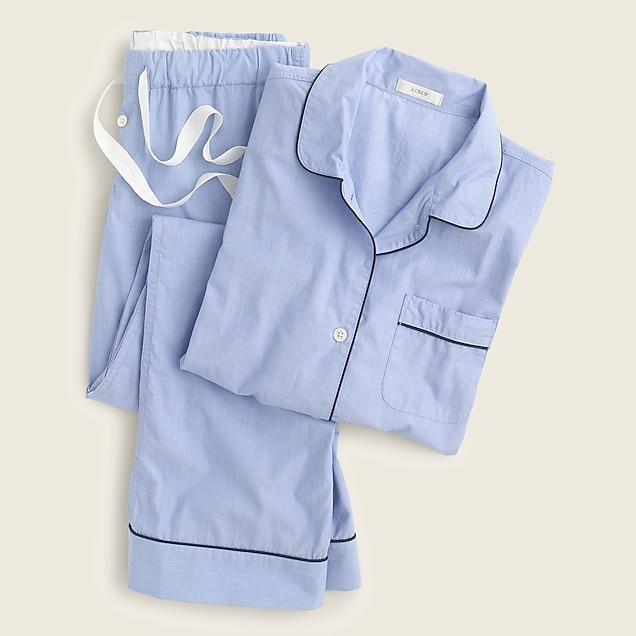 j.crew: vintage pajama set, right side, view zoomed