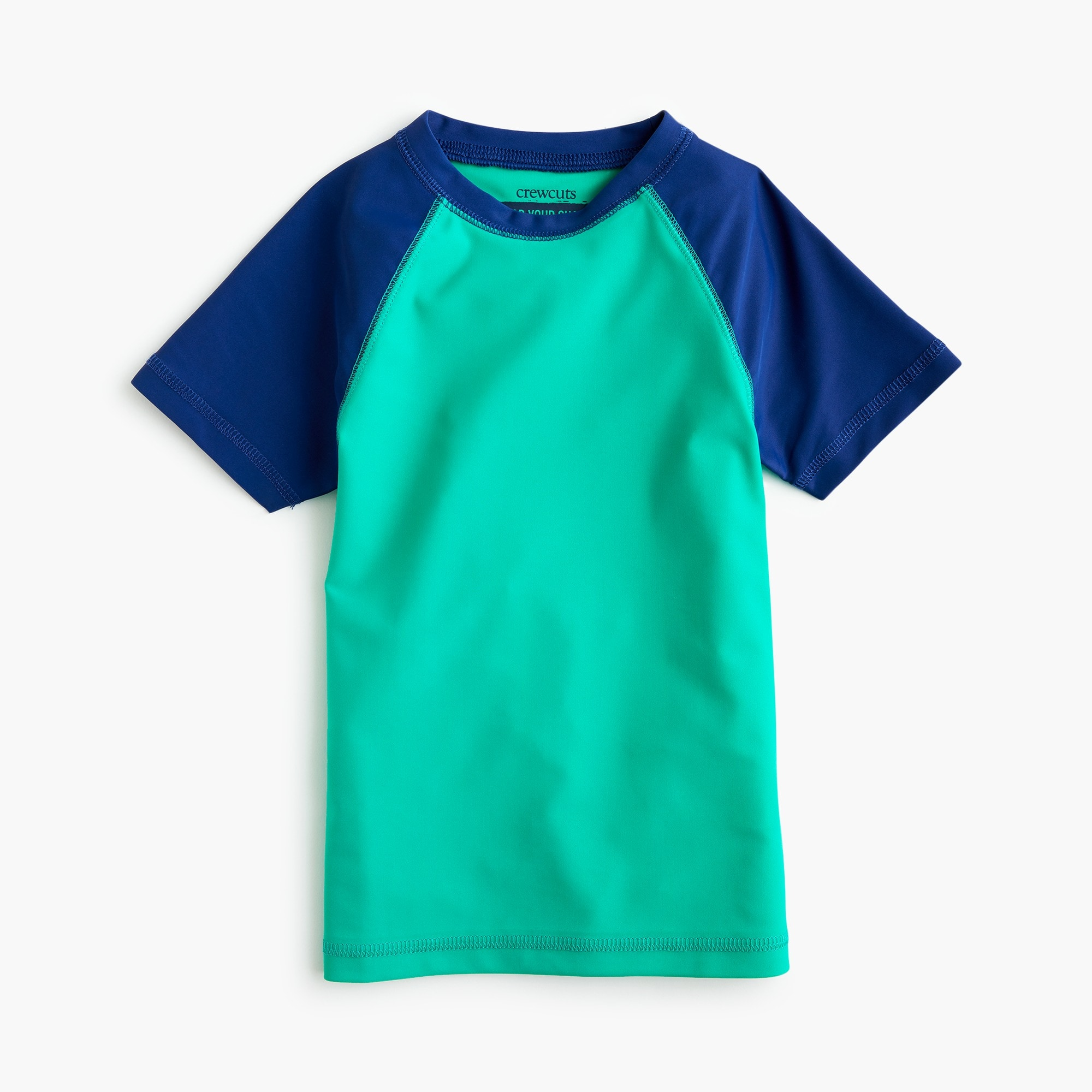 Boys' short-sleeve colorblock rash guard boy new arrivals c