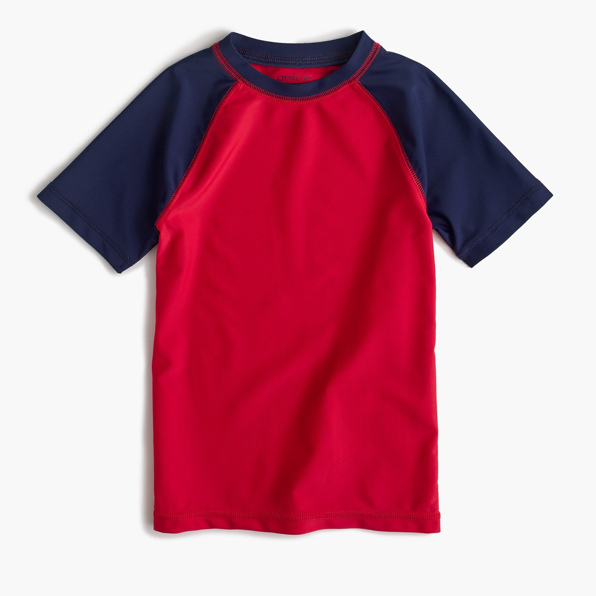 boys' short-sleeve colorblock rash guard - boys' swimwear