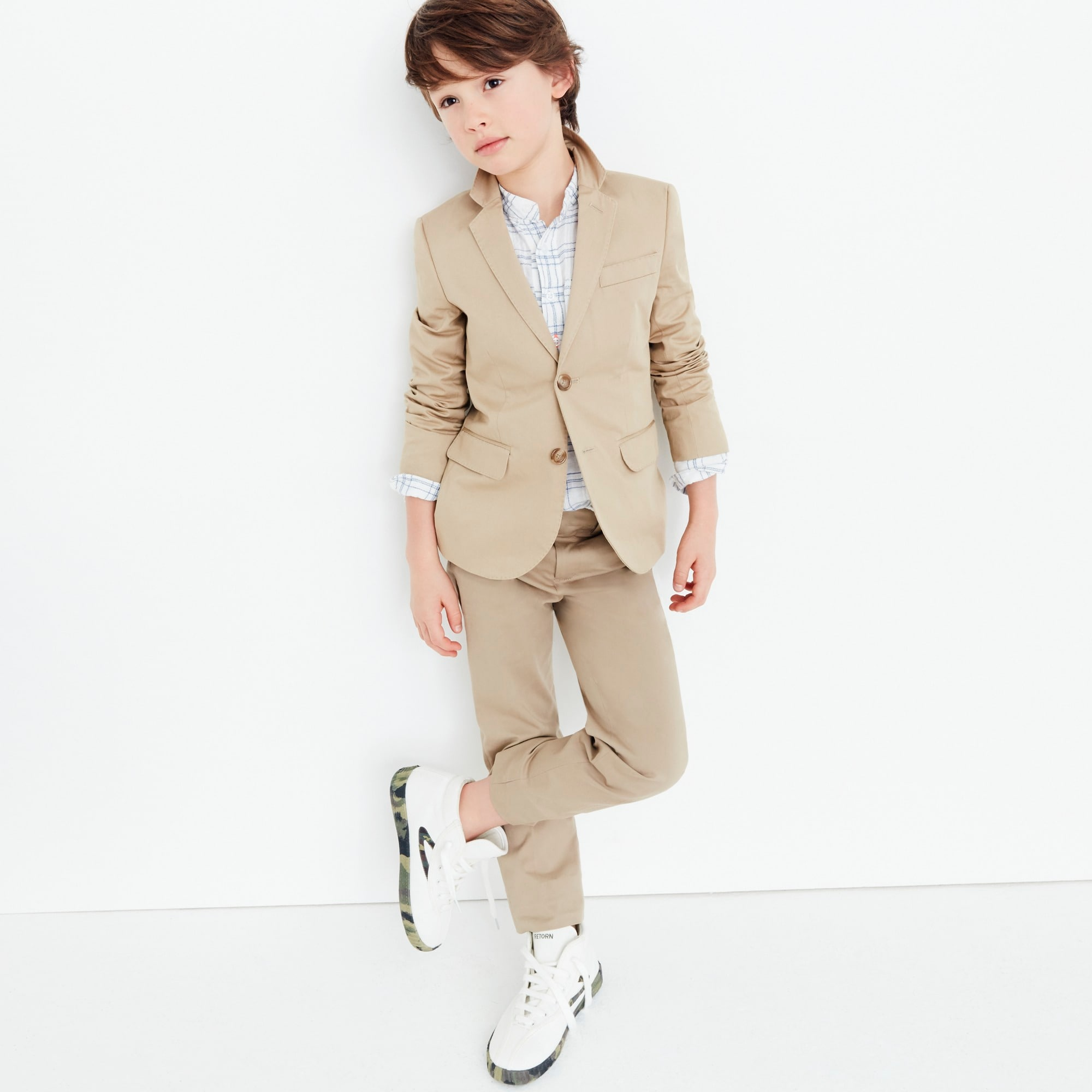 boys Boys' Ludlow suit jacket in Italian stretch chino