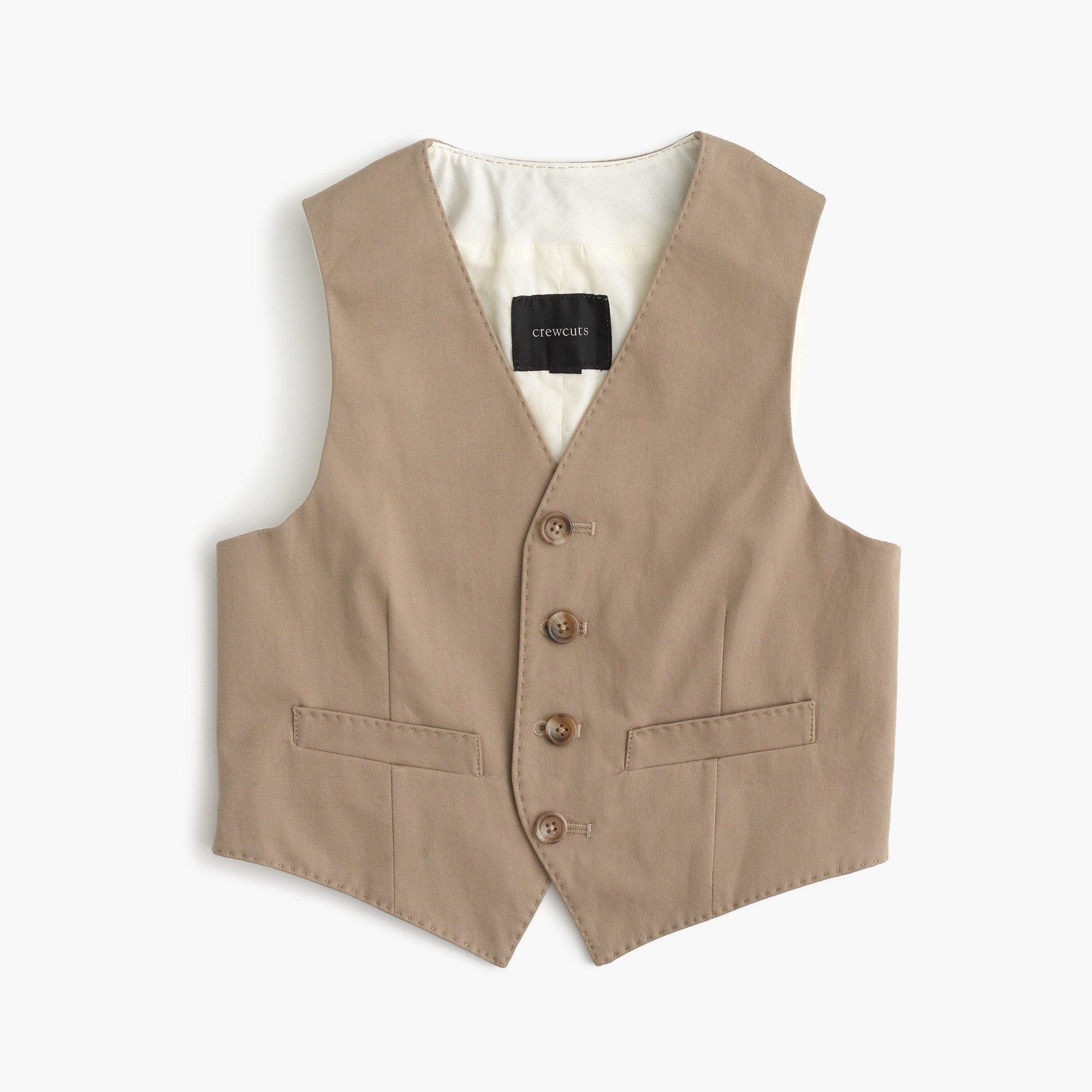 Boys' Ludlow suit vest in Italian stretch chino