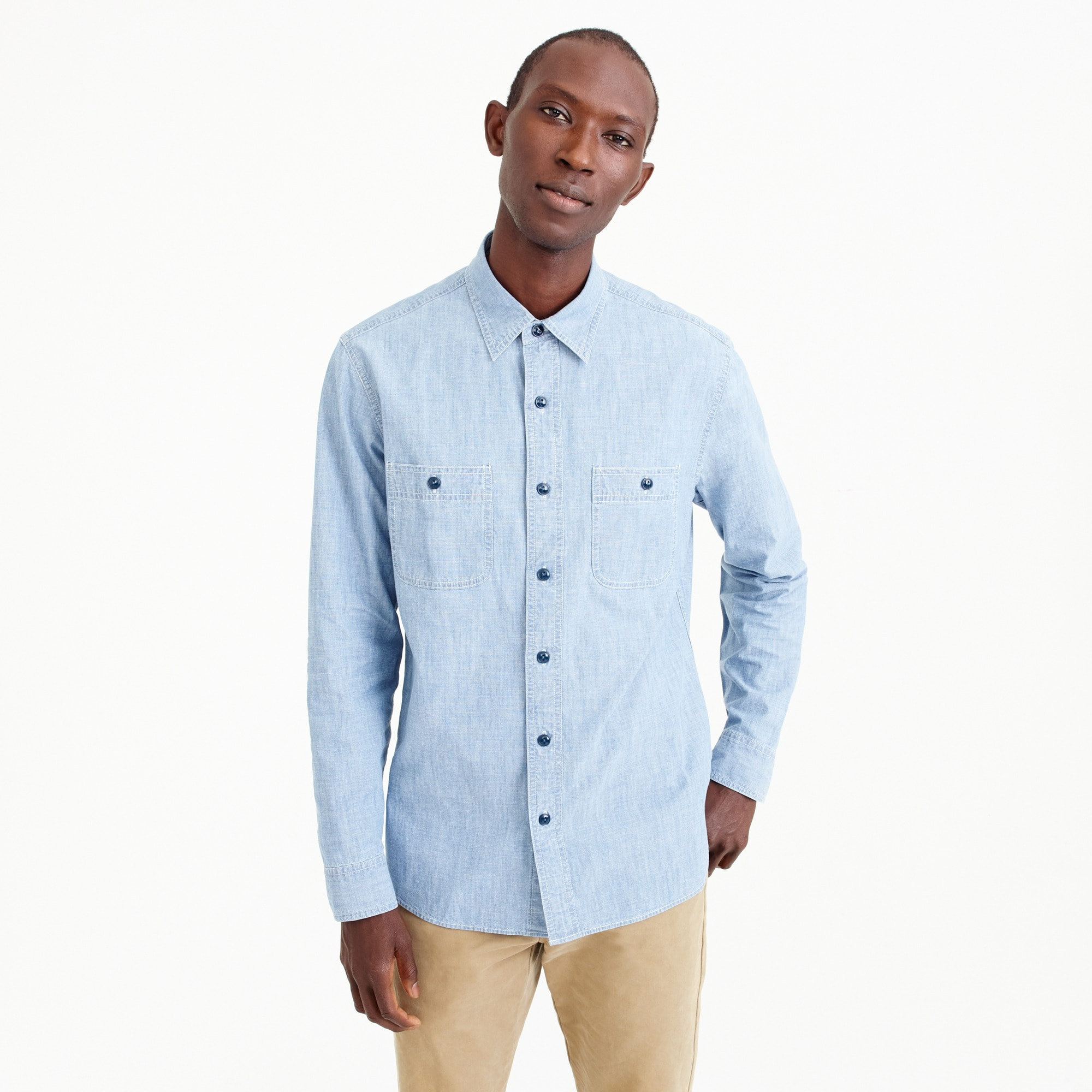 Image 1 for Wallace & Barnes chambray workshirt