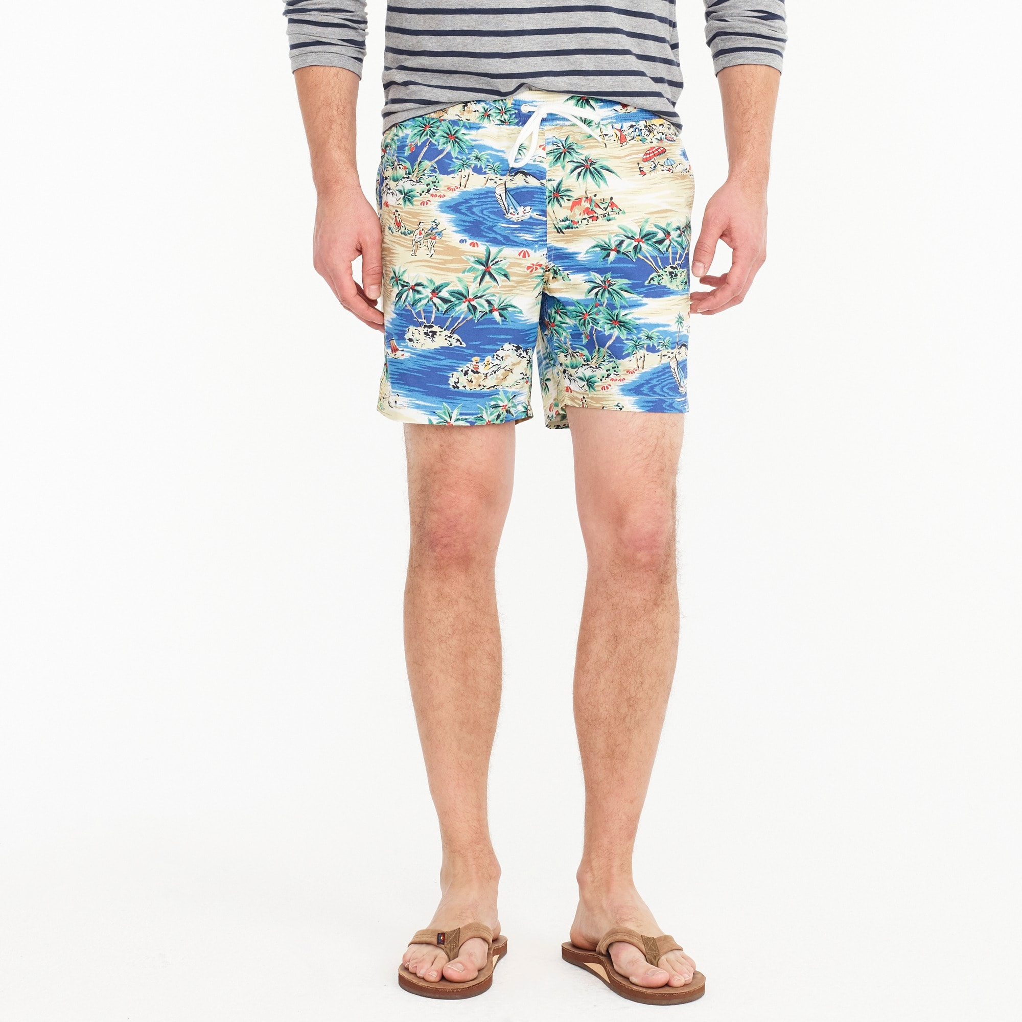 "6"" swim trunk in island print men swim c"