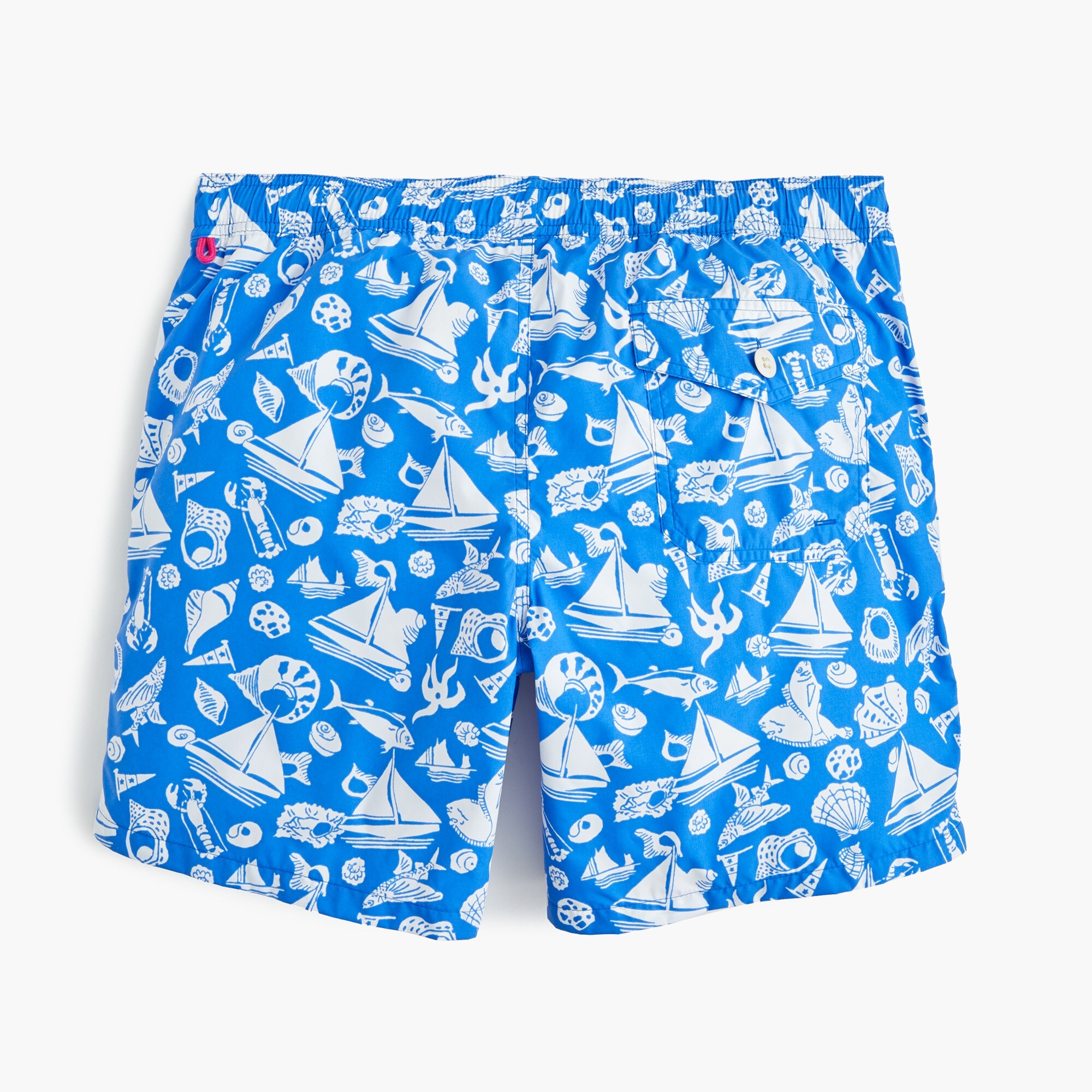 "Image 5 for 6"" swim trunk in seaside print"