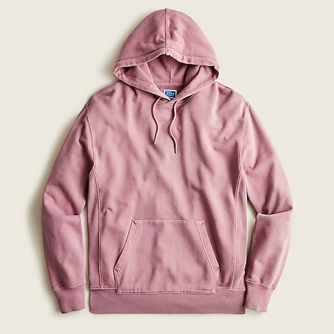 mens Garment-dyed french terry hoodie
