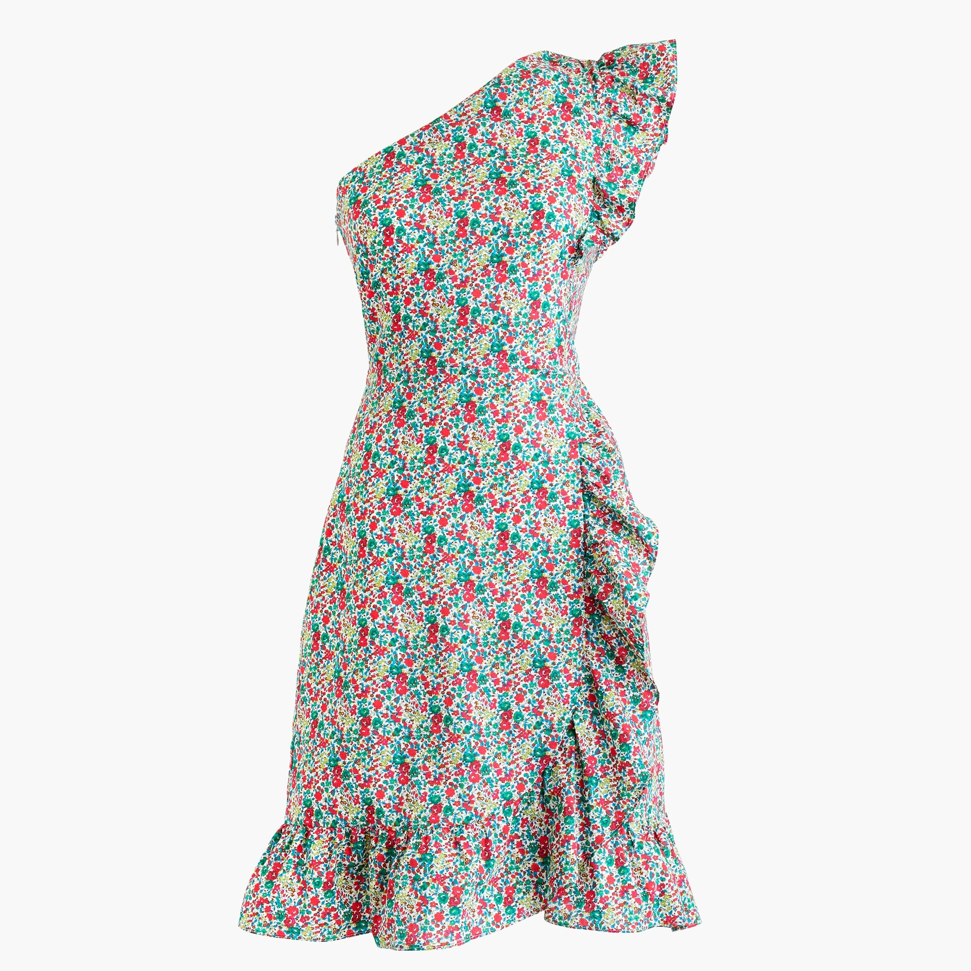 Image 5 for Petite asymmetrical ruffle dress in Liberty® Emma & Georgina floral
