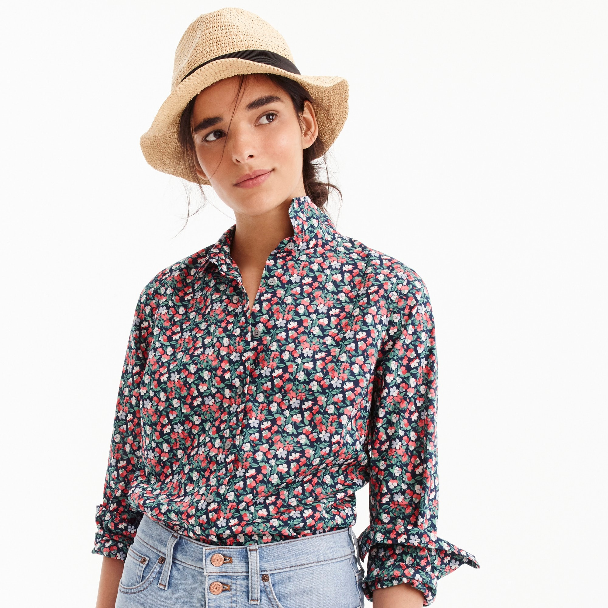 Image 4 for Slim perfect shirt in Liberty® Sarah floral