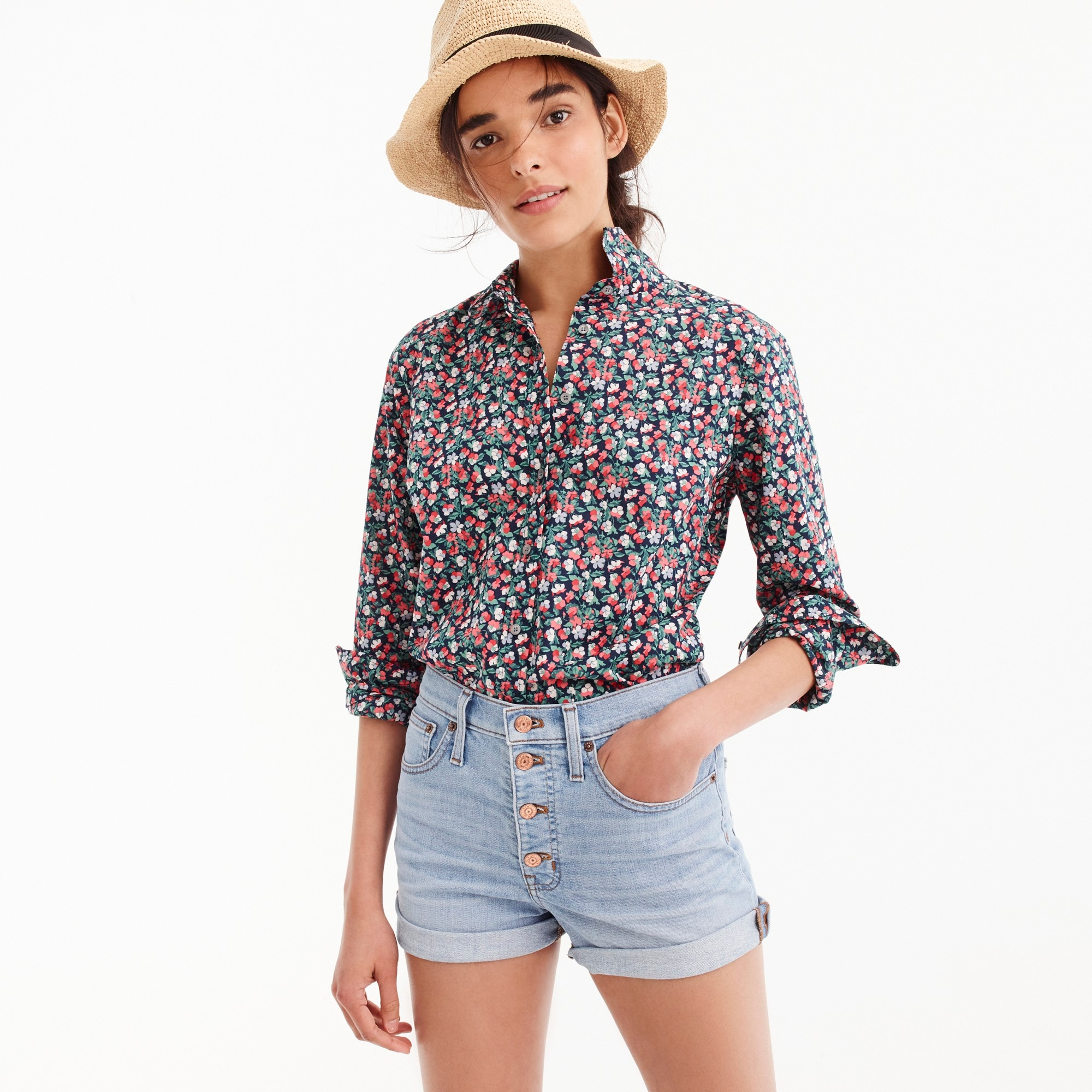 Petite slim perfect shirt in Liberty® Sarah floral women petite c