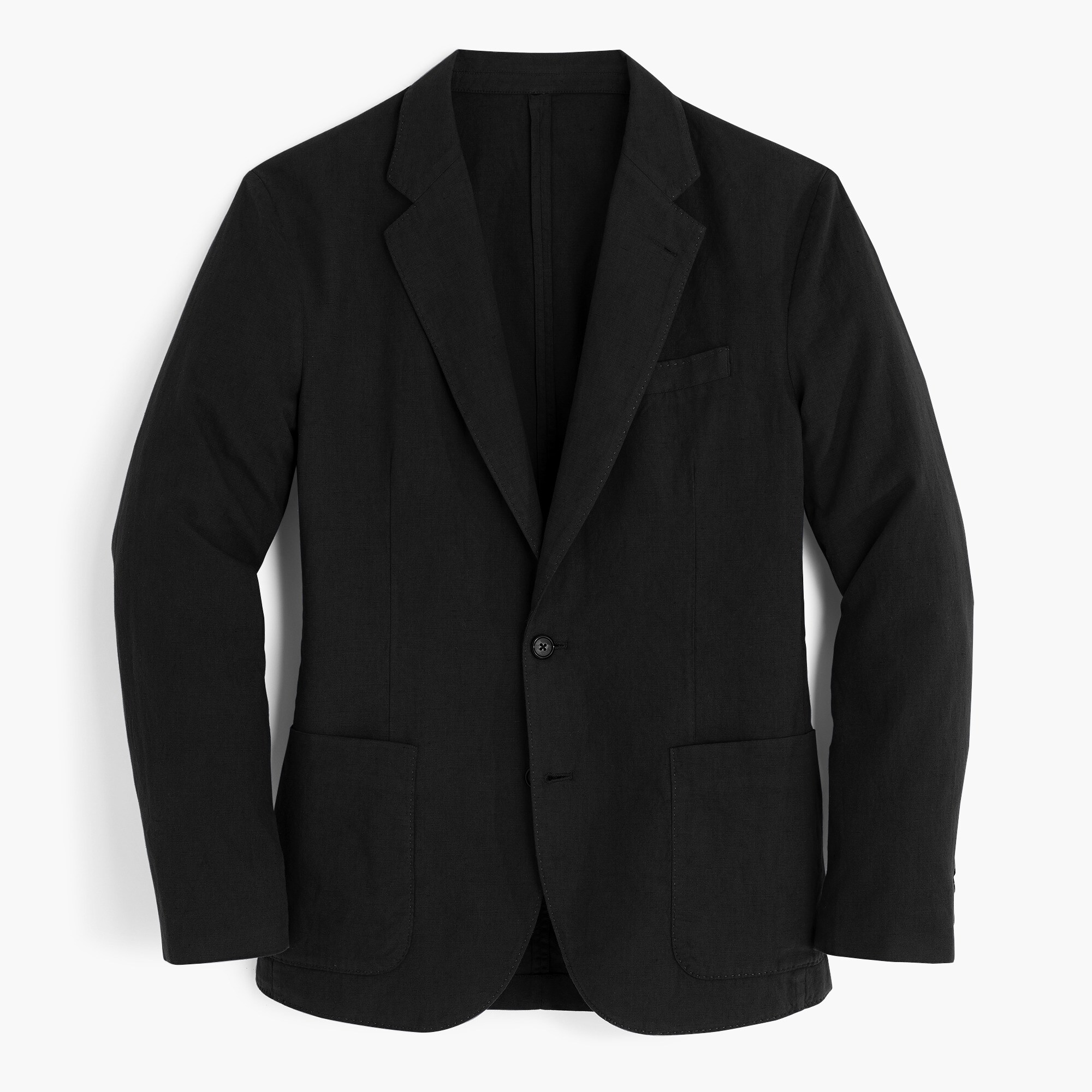 Unstructured Slim-fit Ludlow blazer in garment-dyed cotton-linen
