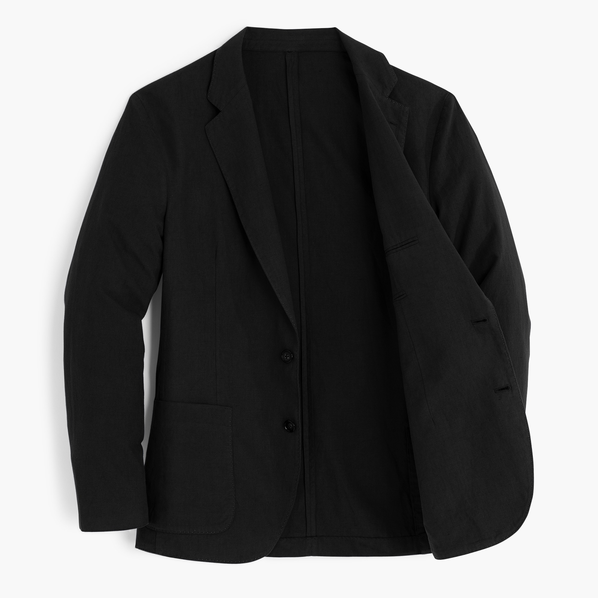 Image 2 for Unstructured Slim-fit Ludlow blazer in garment-dyed cotton-linen