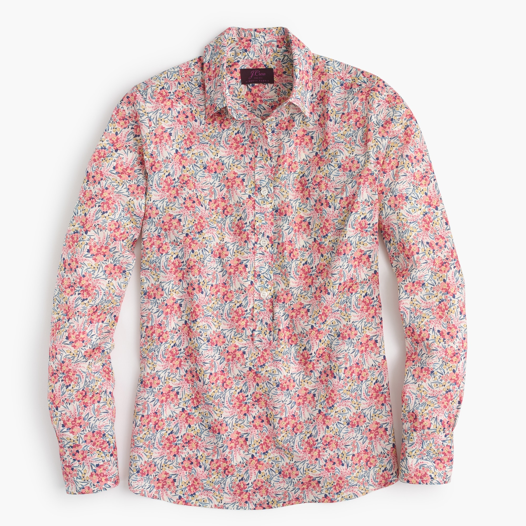 women's tall classic popover in liberty® swirling petals - women's button-down shirts