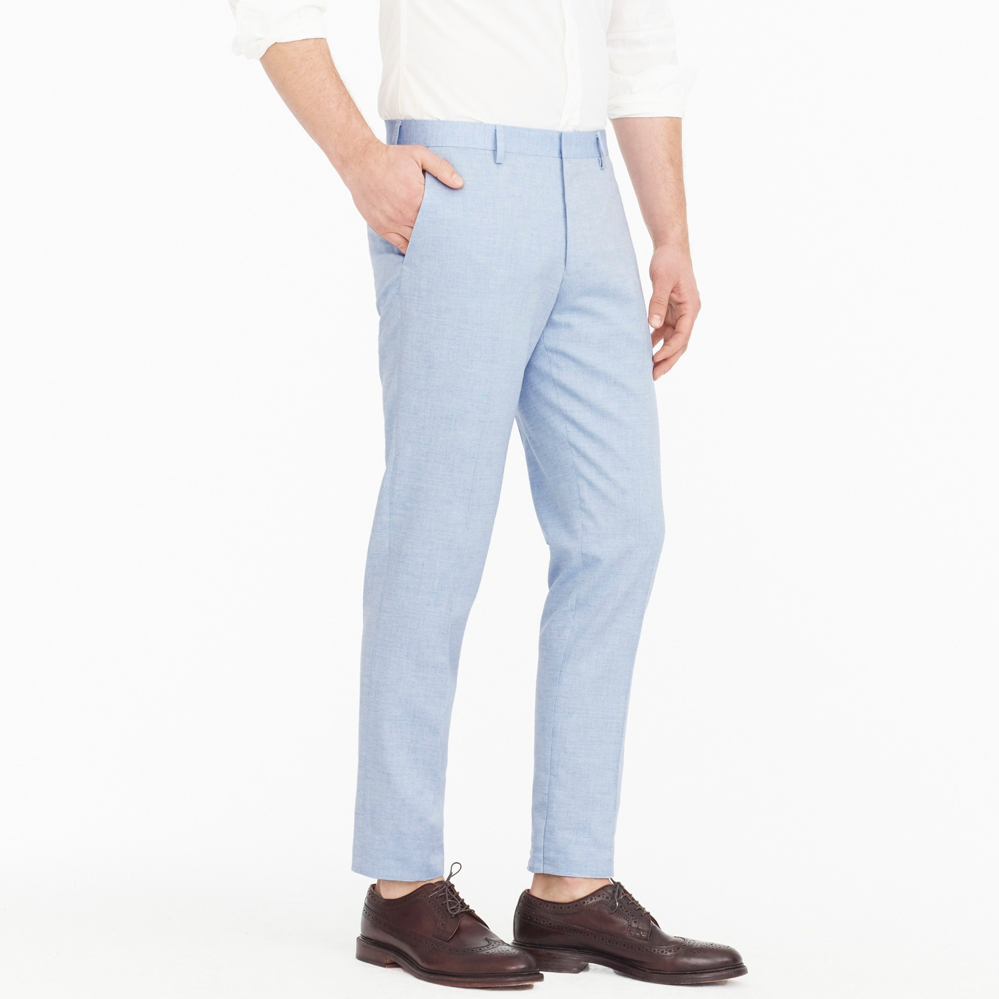 Ludlow Slim-fit suit pant in light blue American wool blend
