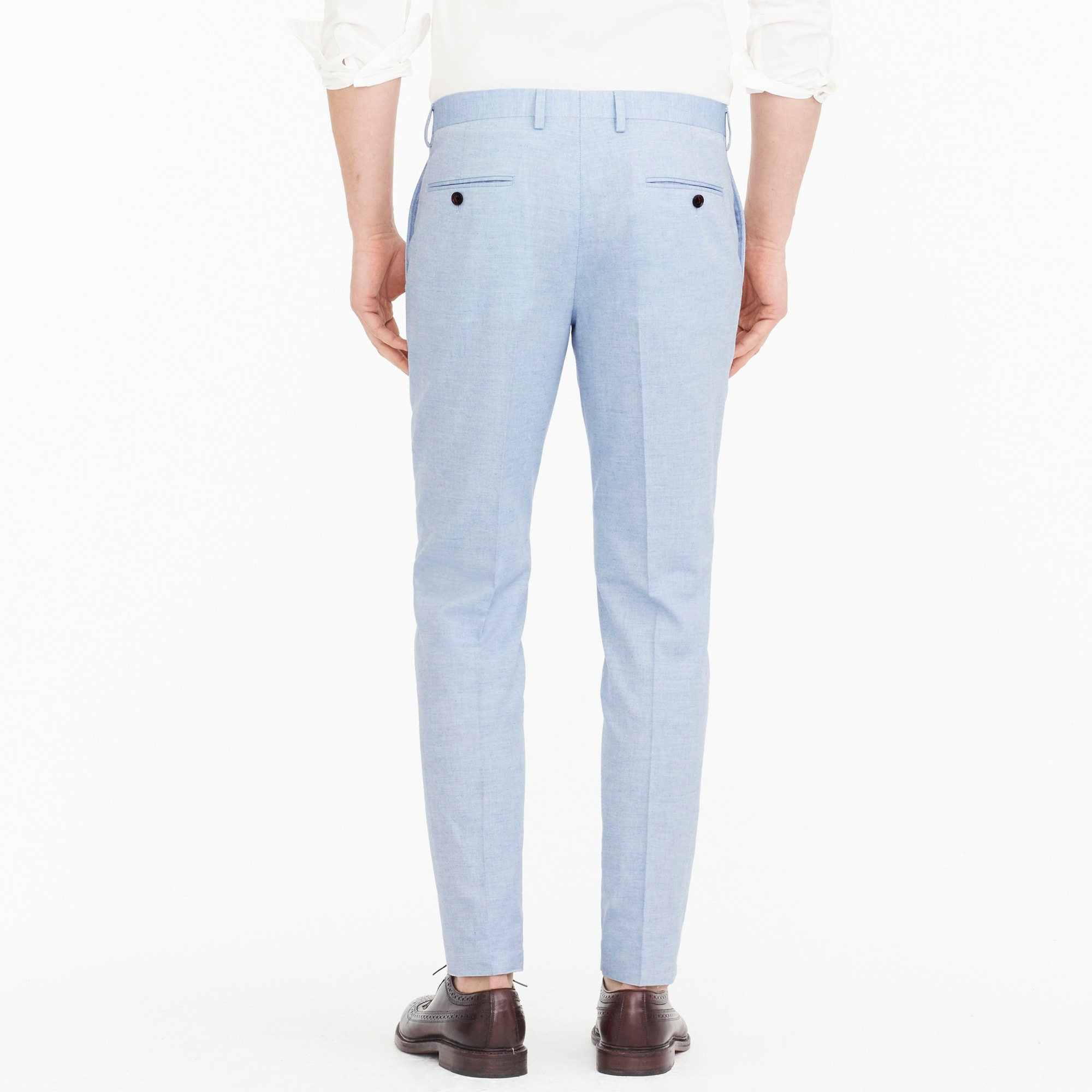 Image 3 for Ludlow Slim-fit suit pant in light blue American wool blend