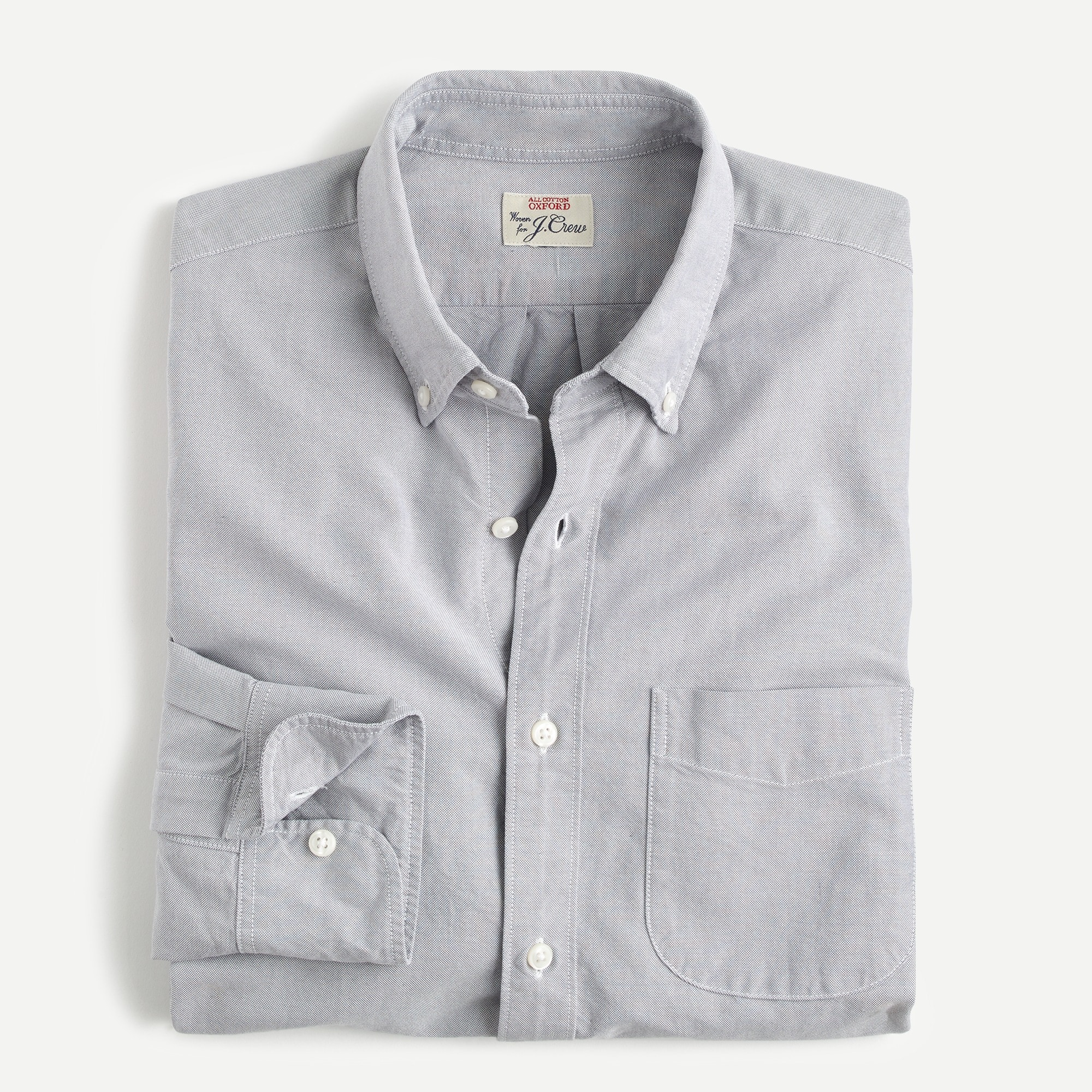 mens Slim American Pima cotton oxford shirt with mechanical stretch