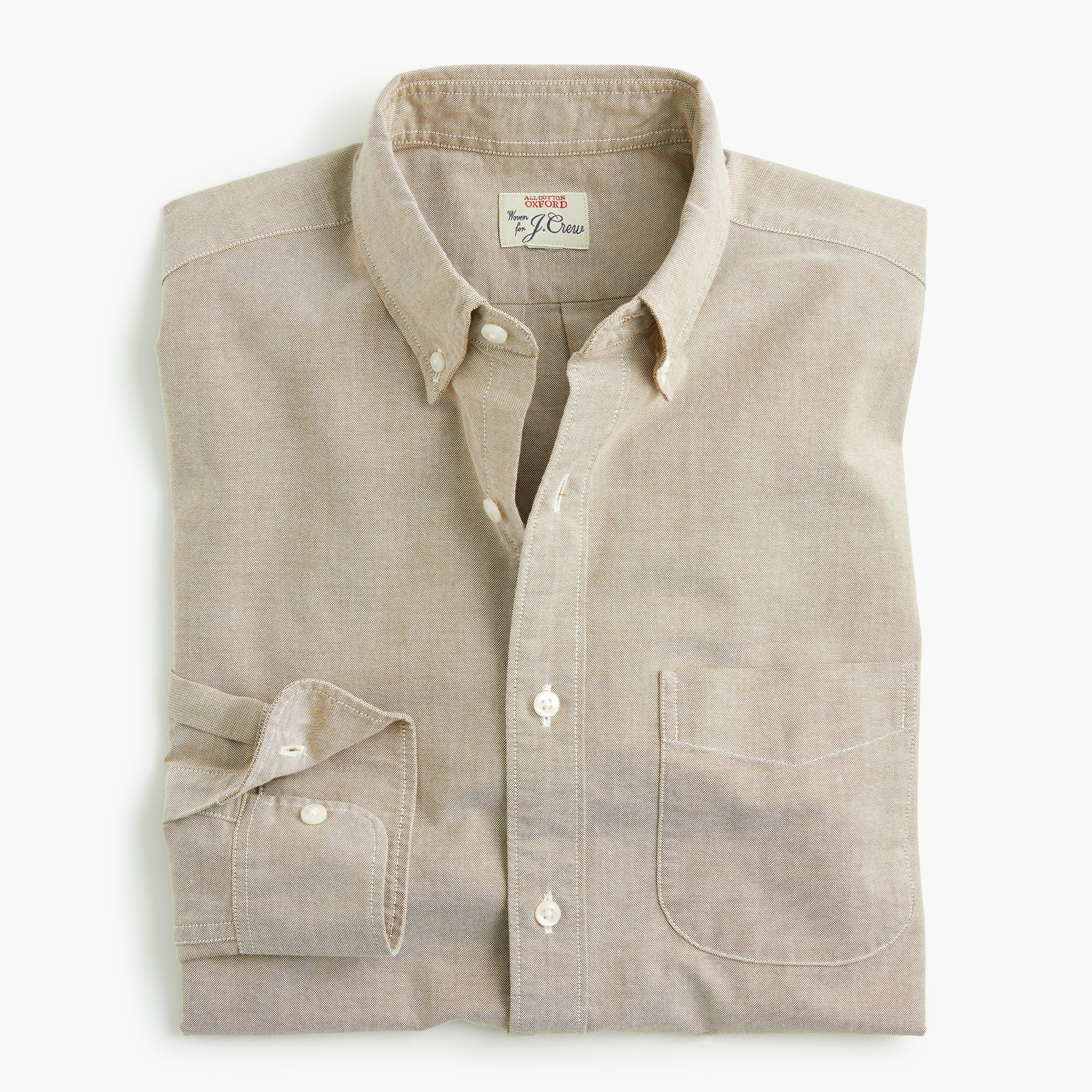 mens Untucked American Pima cotton oxford shirt with mechanical stretch