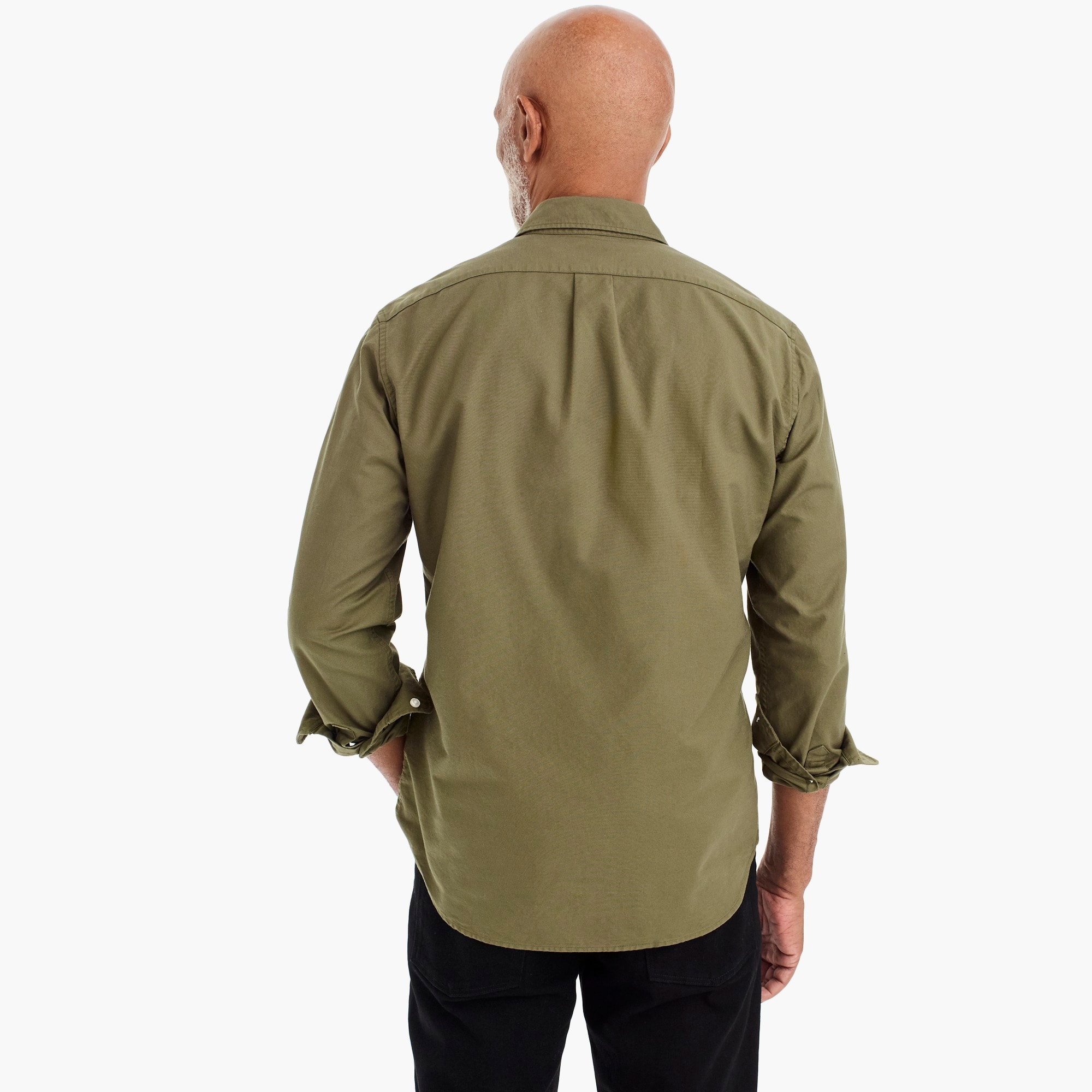 American Pima cotton oxford shirt with mechanical stretch