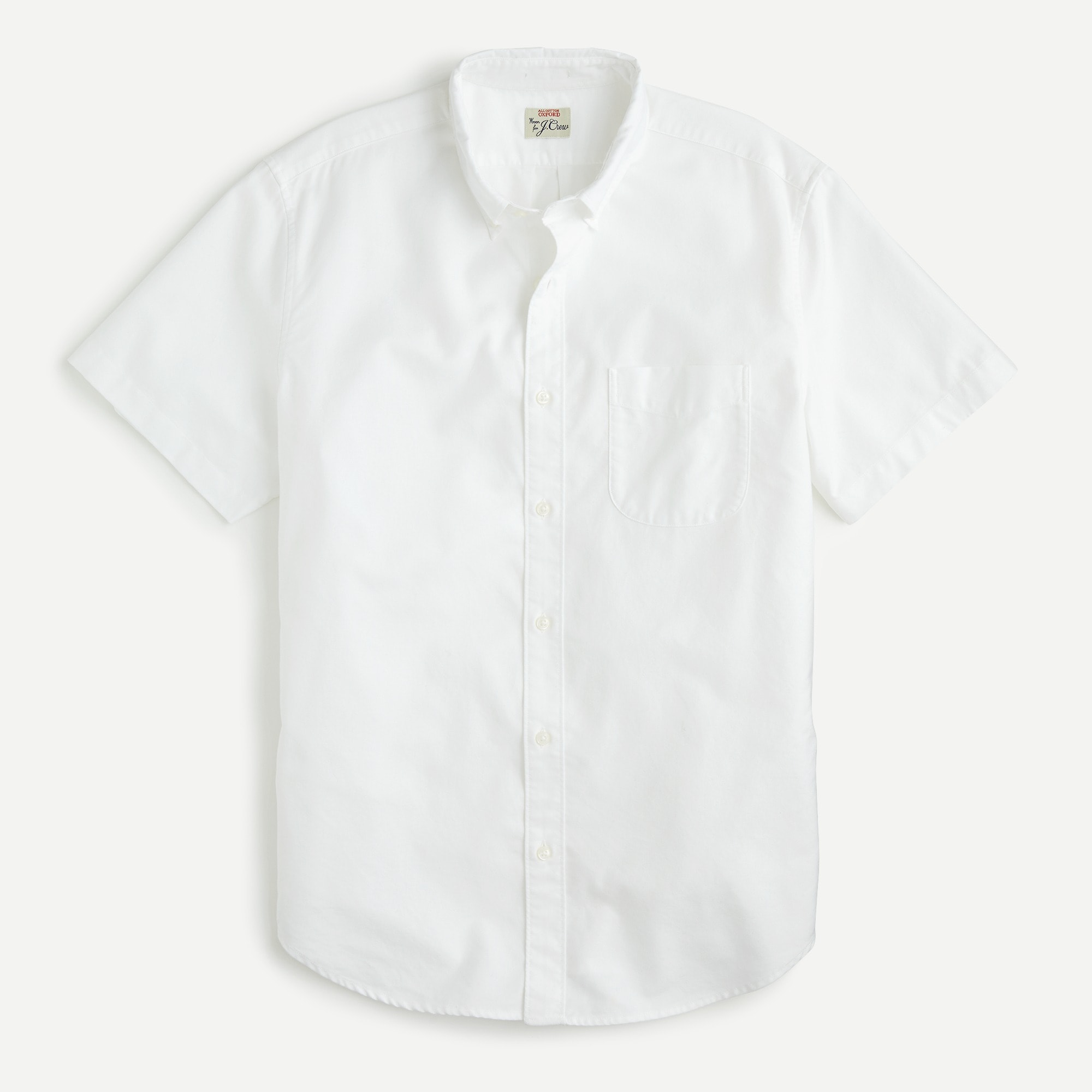 mens Stretch short-sleeve American Pima cotton oxford shirt