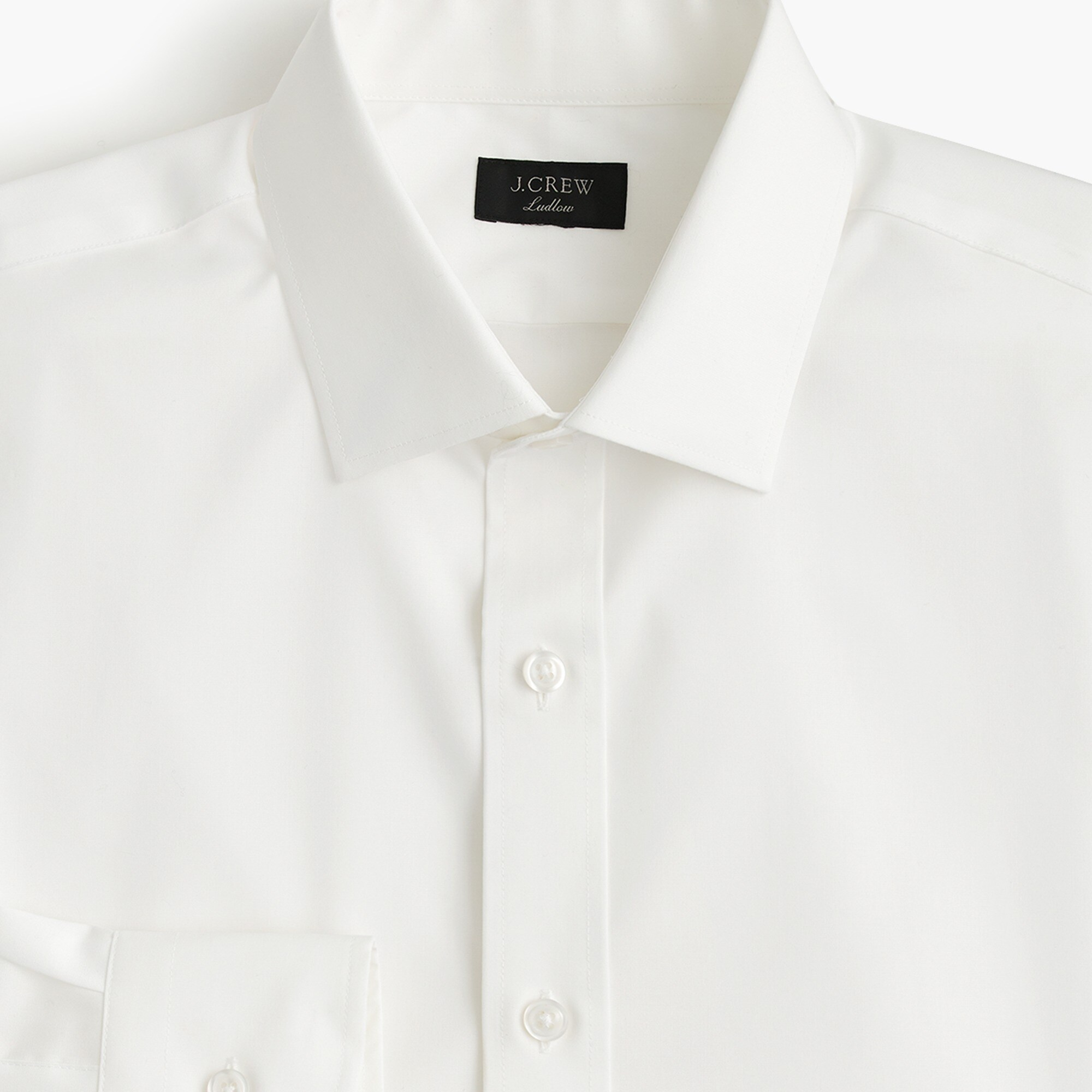 Image 1 for Ludlow Slim-fit stretch two-ply easy-care cotton dress shirt in solid