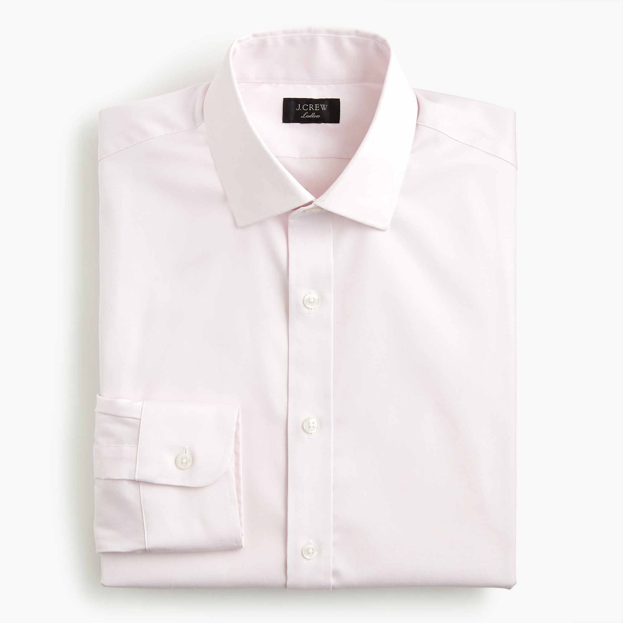 mens Ludlow Slim-fit stretch two-ply easy-care cotton in pinpoint oxford
