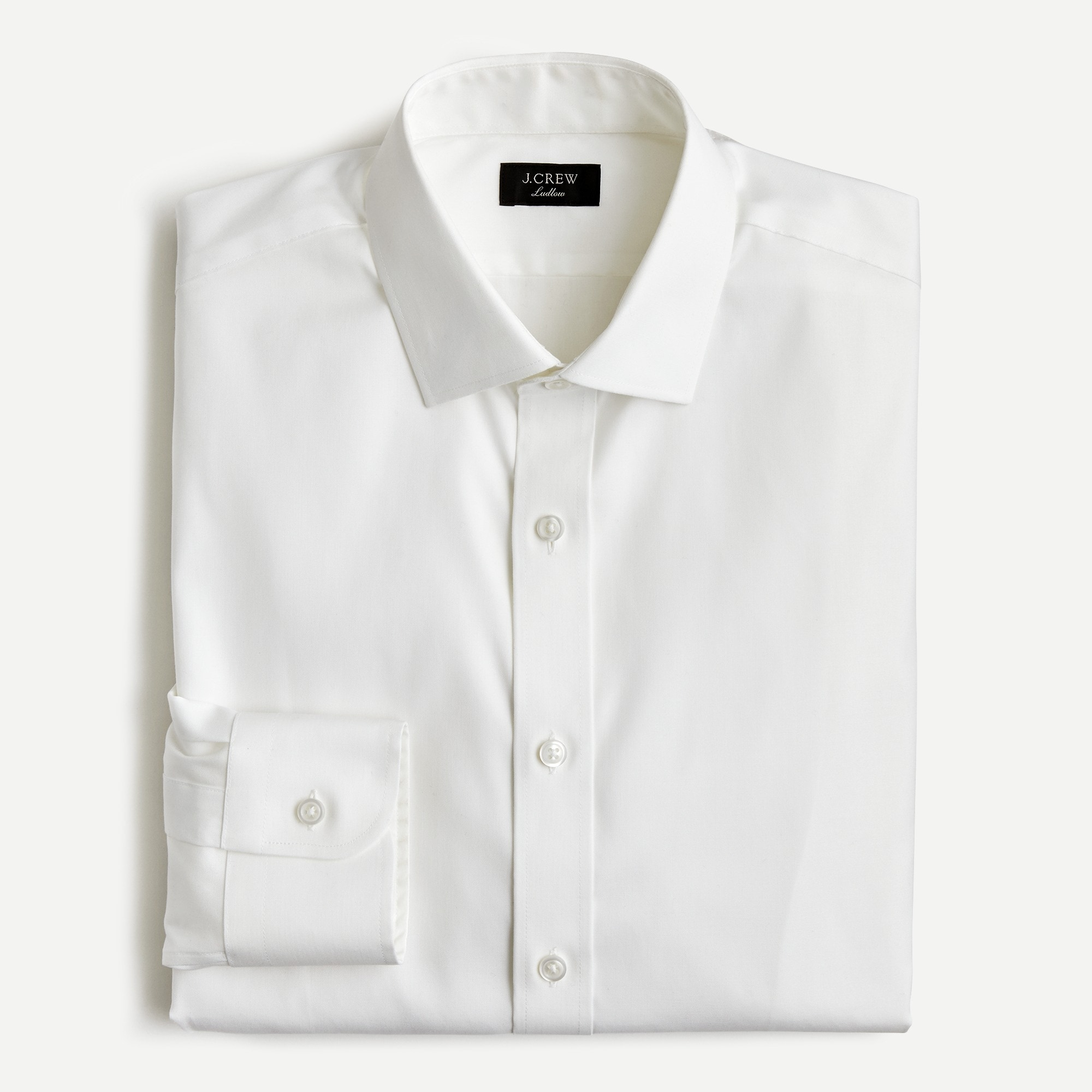men's ludlow slim-fit stretch two-ply easy-care cotton in pinpoint oxford - men's woven shirts