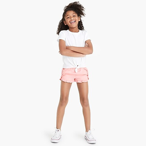 factory girls Girls' pull-on ruffle short in chino