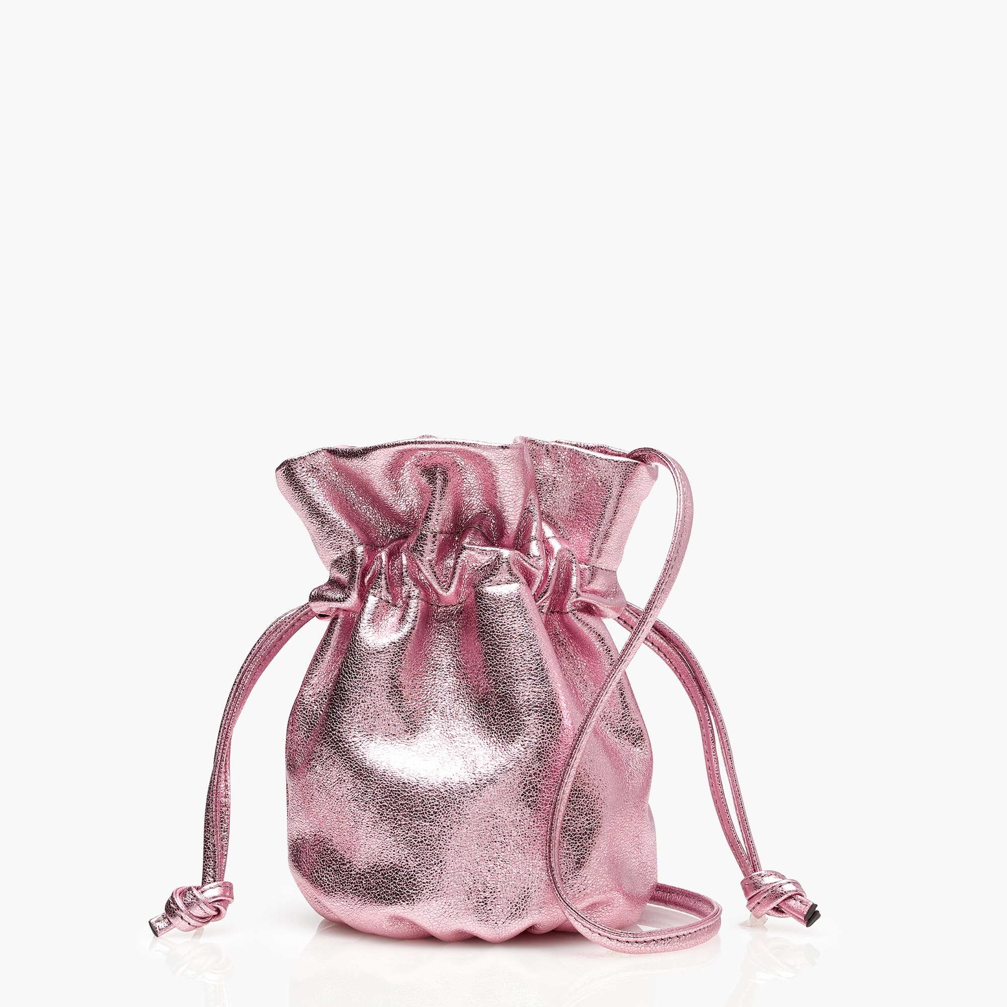 Image 1 for Mini crossbody pouch in metallic blush