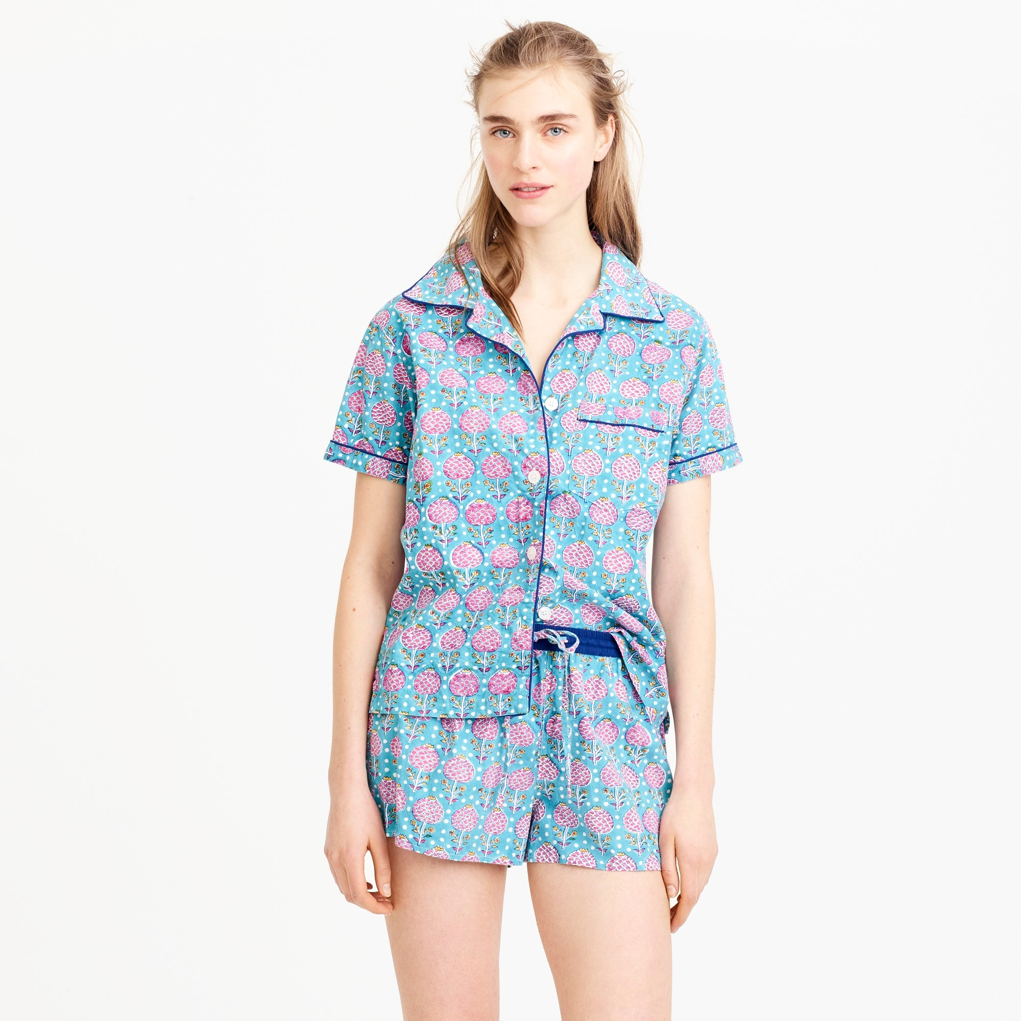 SZ Blockprints™ for J.Crew short sleep set women j.crew in good company c