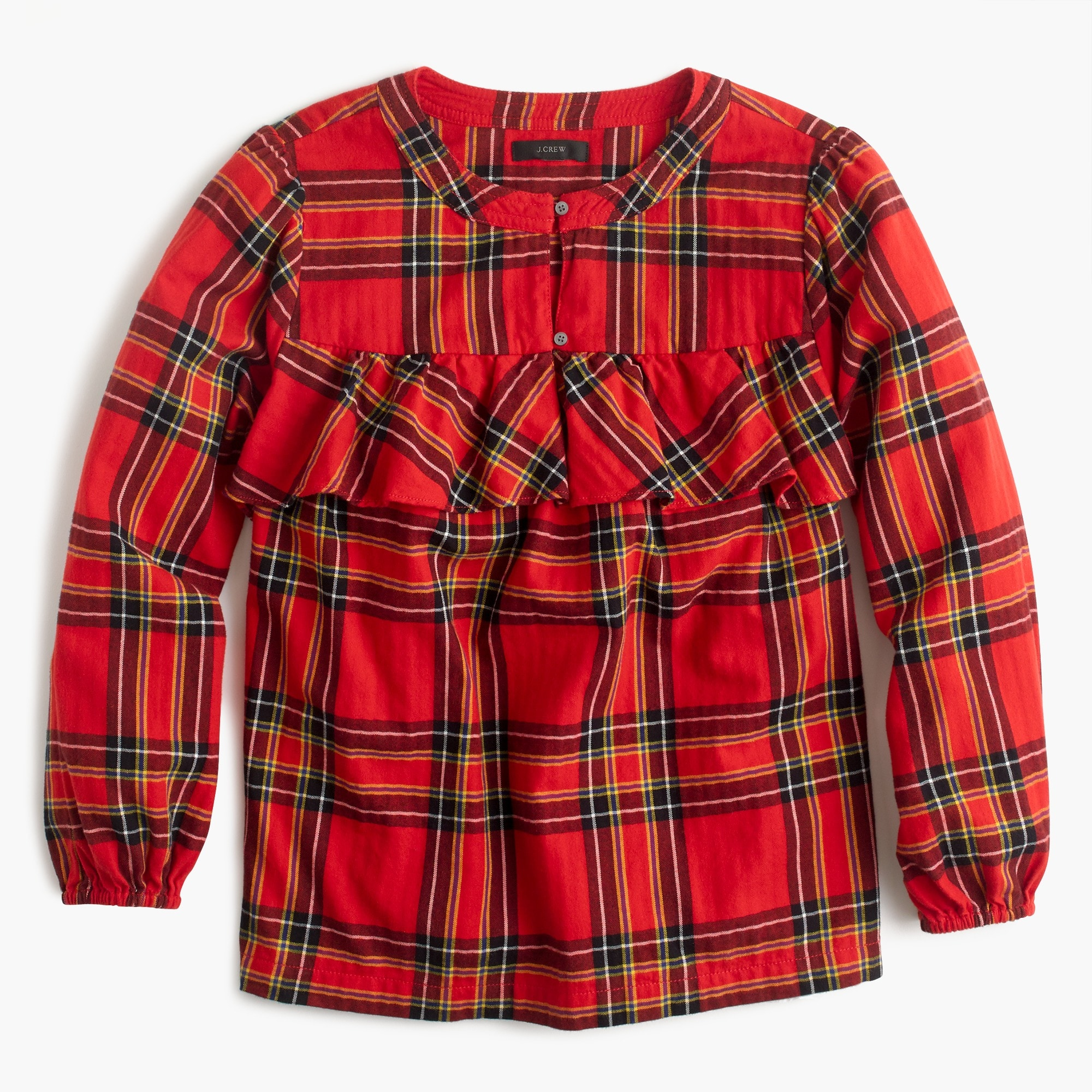 Image 6 for Ruffle top in festive plaid