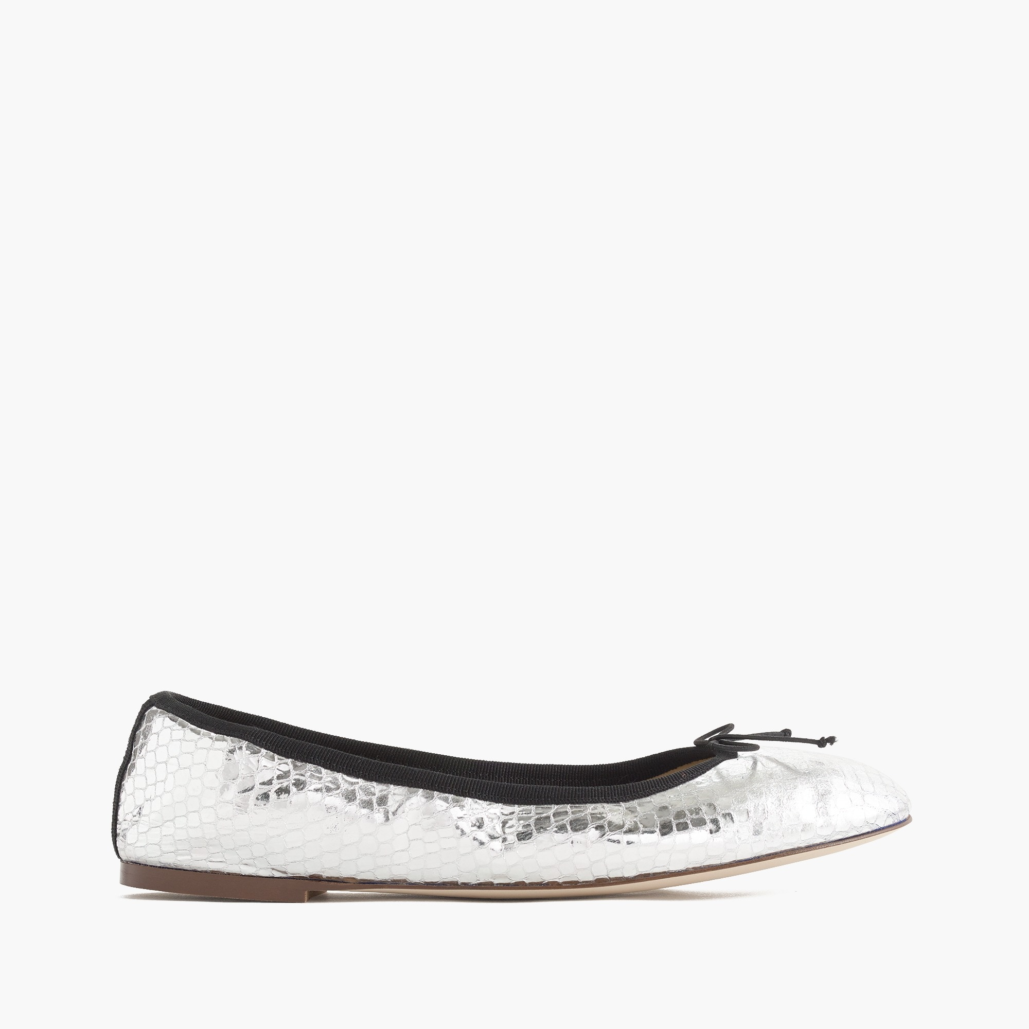 Evie ballet flats in mirrored silver