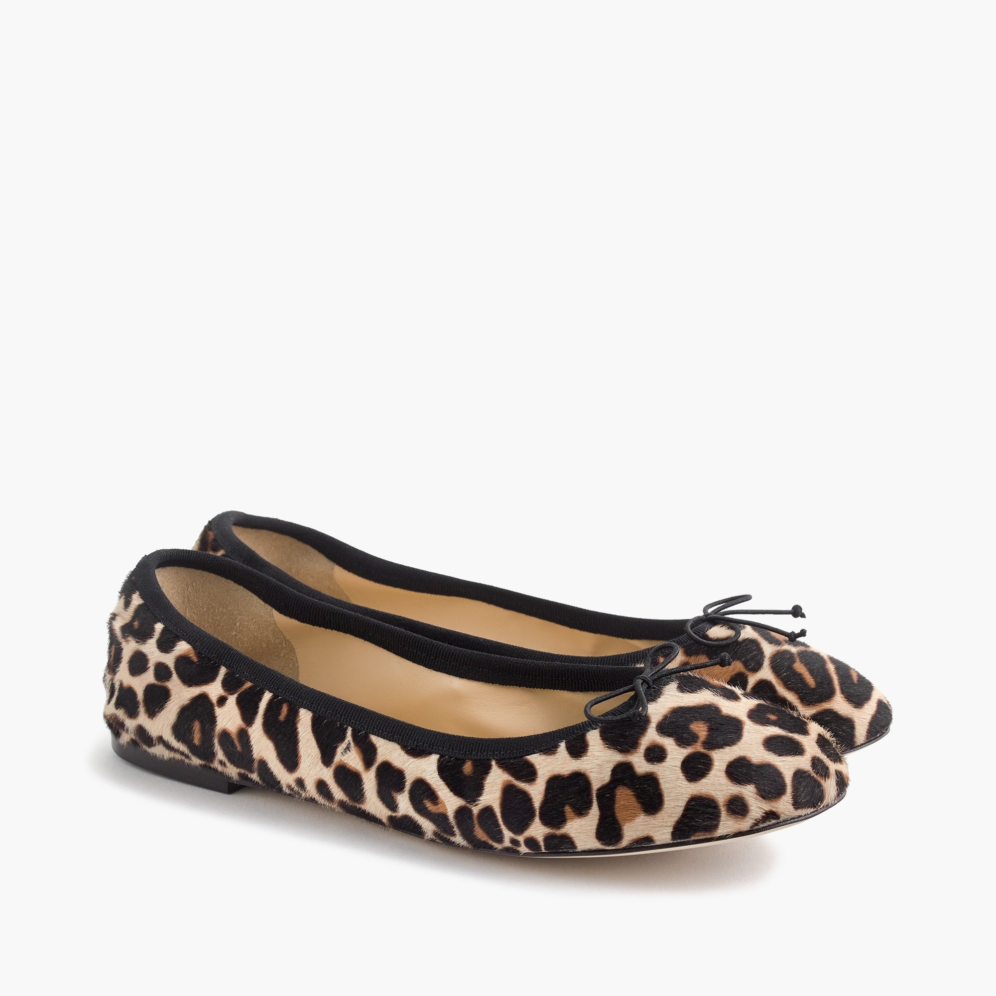 Evie ballet flats in leopard print calf hair women shoes c