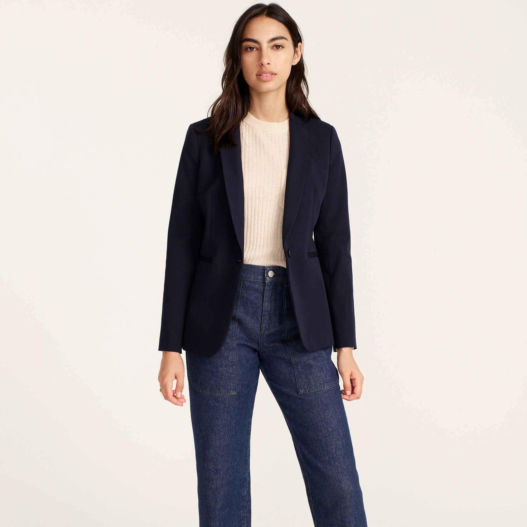 Petite Parke blazer in two-way stretch cotton women petite c