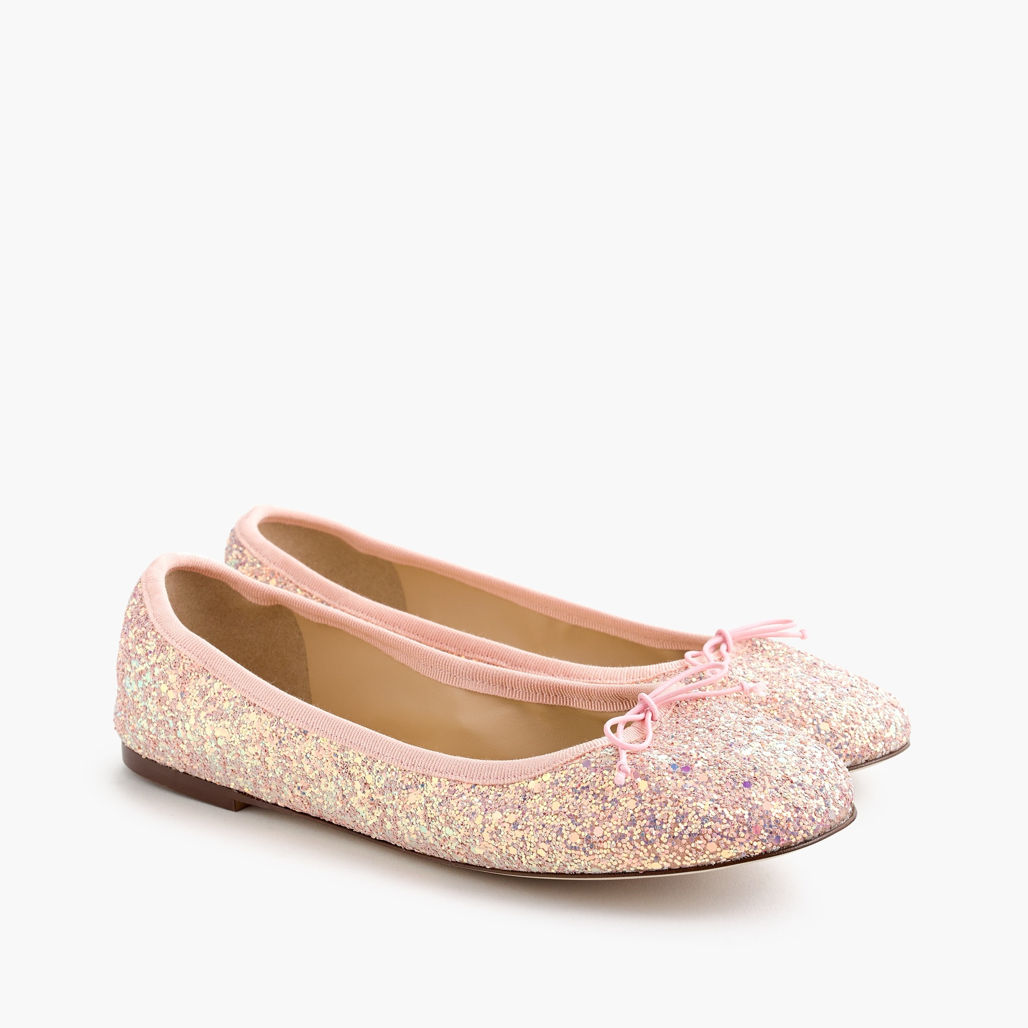 women's evie ballet flats in glitter - women's footwear