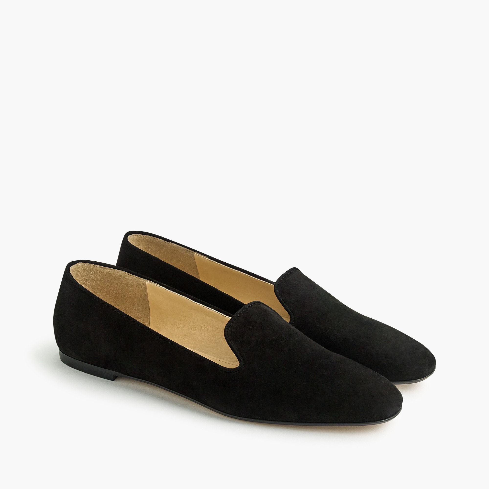 Suede smoking slippers women shoes c