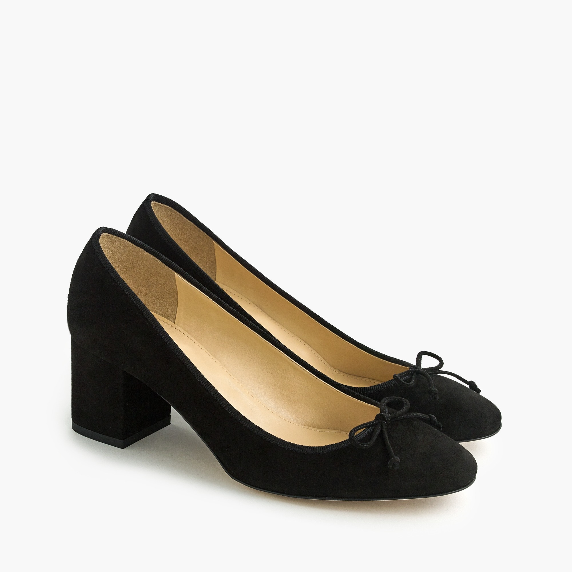 Image 3 for Evie ballet heel in black suede